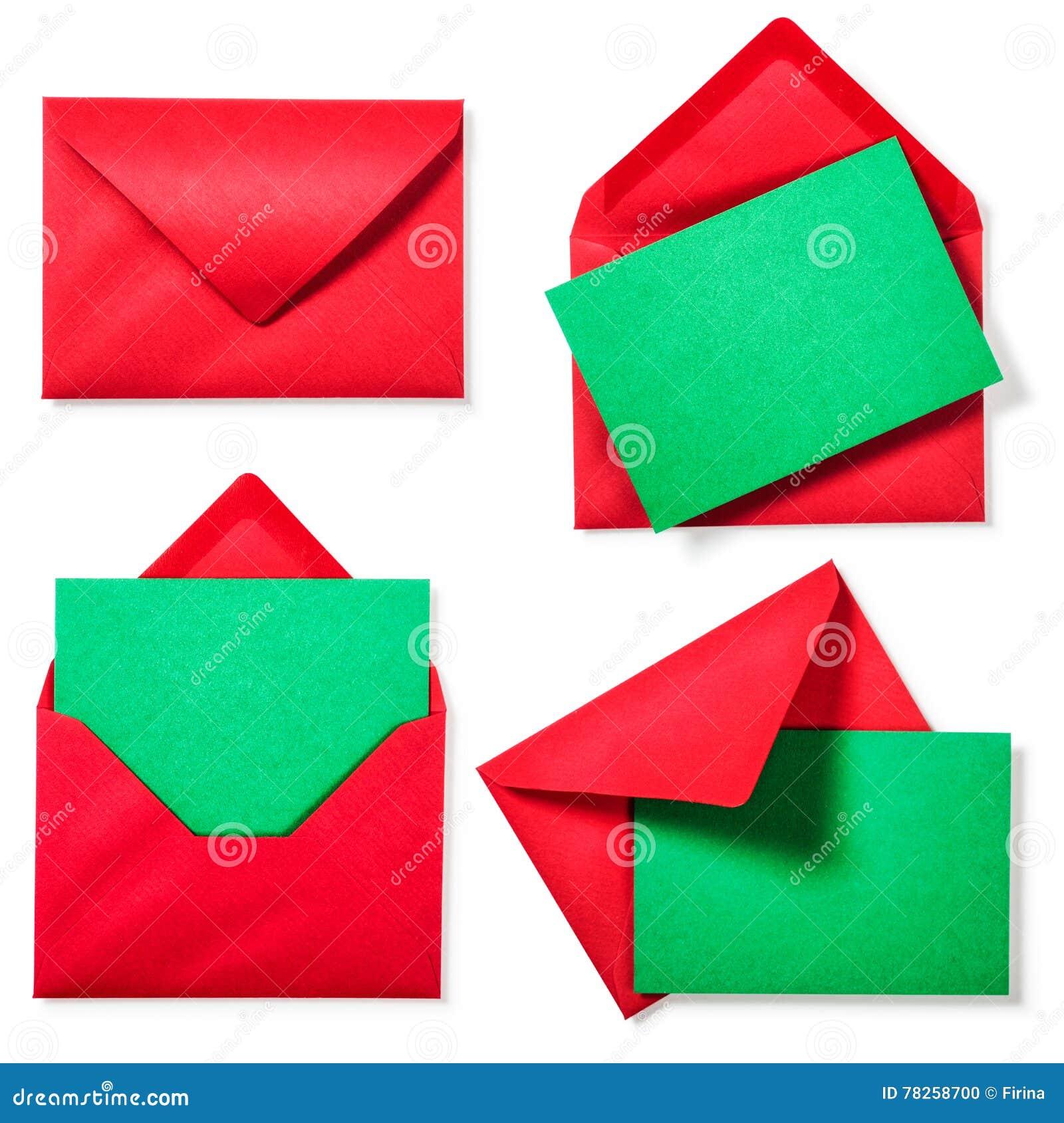 Κόκκινος φάκελος με την πράσινη κάρτα