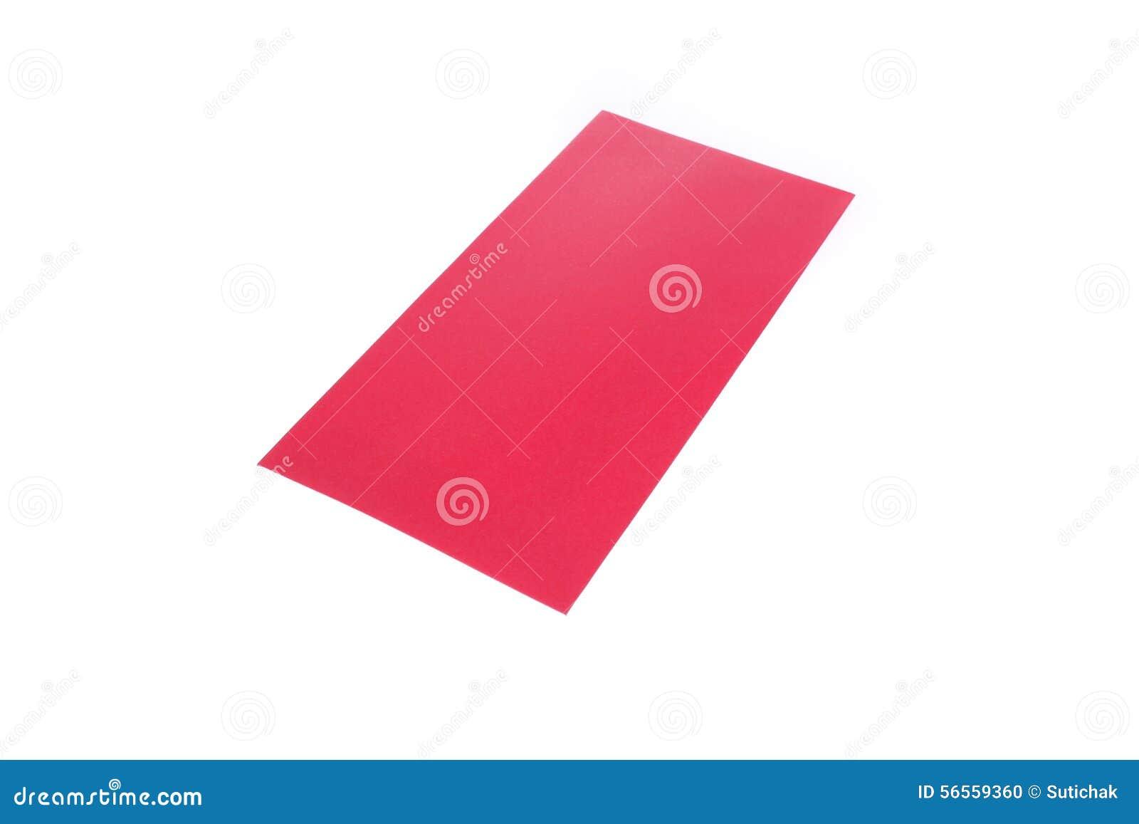 Download Κόκκινος φάκελος που απομονώνεται στο άσπρο υπόβαθρο για το δώρο Στοκ Εικόνες - εικόνα από απομονωμένος, ευημερία: 56559360