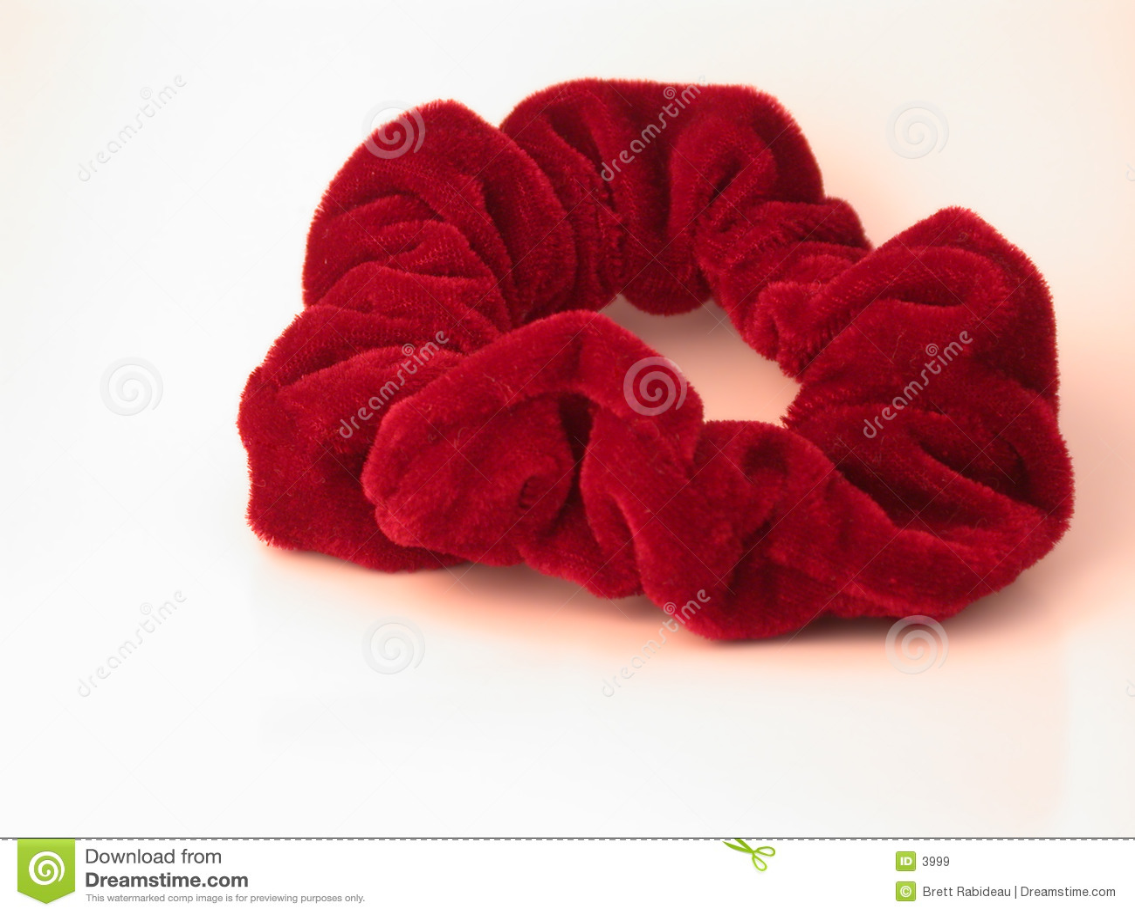 κόκκινος scrunchy τριχώματος