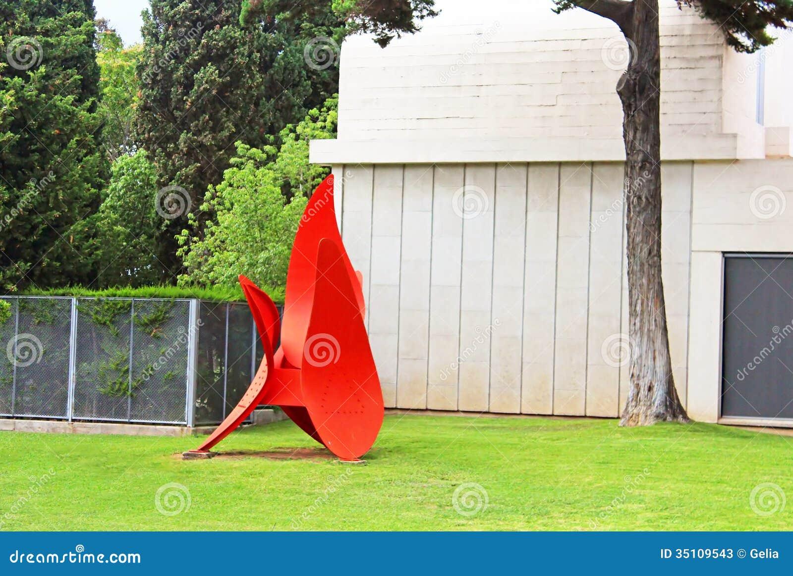Κόκκινο άγαλμα Miro στη Βαρκελώνη