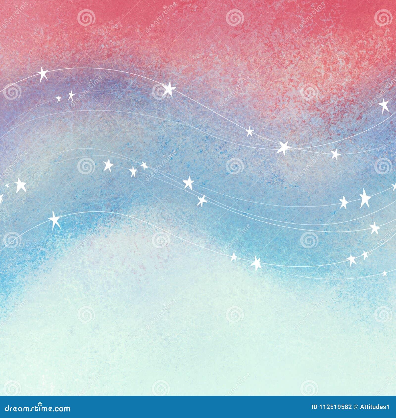Κόκκινο άσπρο και μπλε υπόβαθρο με τα αστέρια και τα λωρίδες στα ρέοντας κύματα  κατασκευασμένο πατριωτικό τέταρτο του Ιουλίου, τ