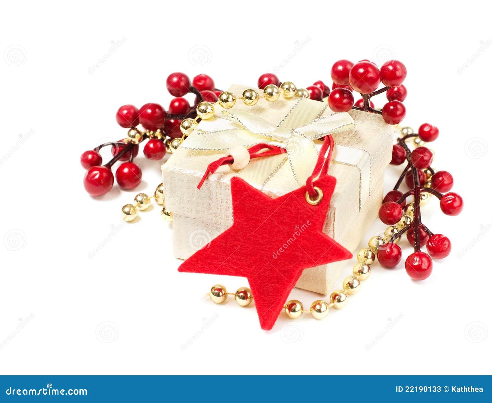 κόκκινο αστέρι δώρων διακ&omi