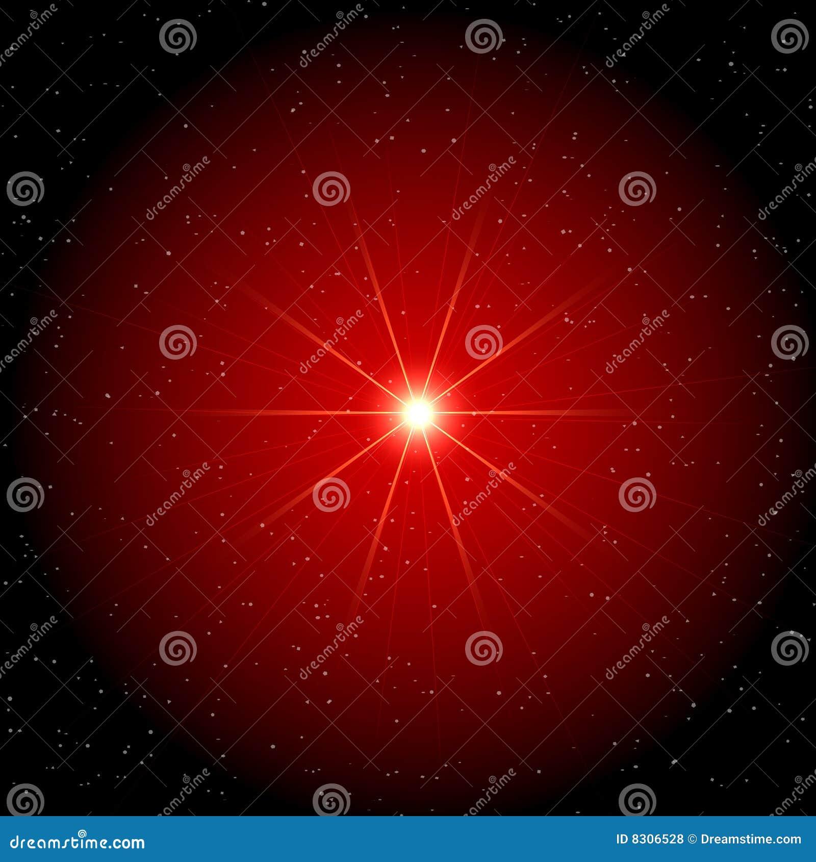 κόκκινο αστέρι σύννεφων αν&al