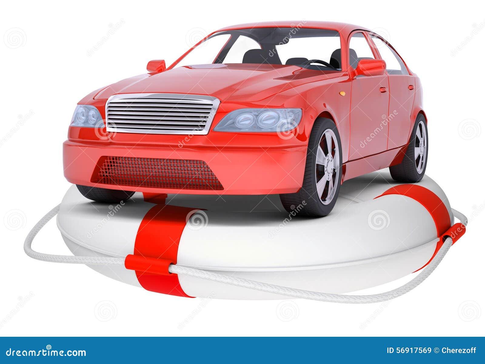 Κόκκινο αυτοκίνητο στο σημαντήρα δαχτυλιδιών