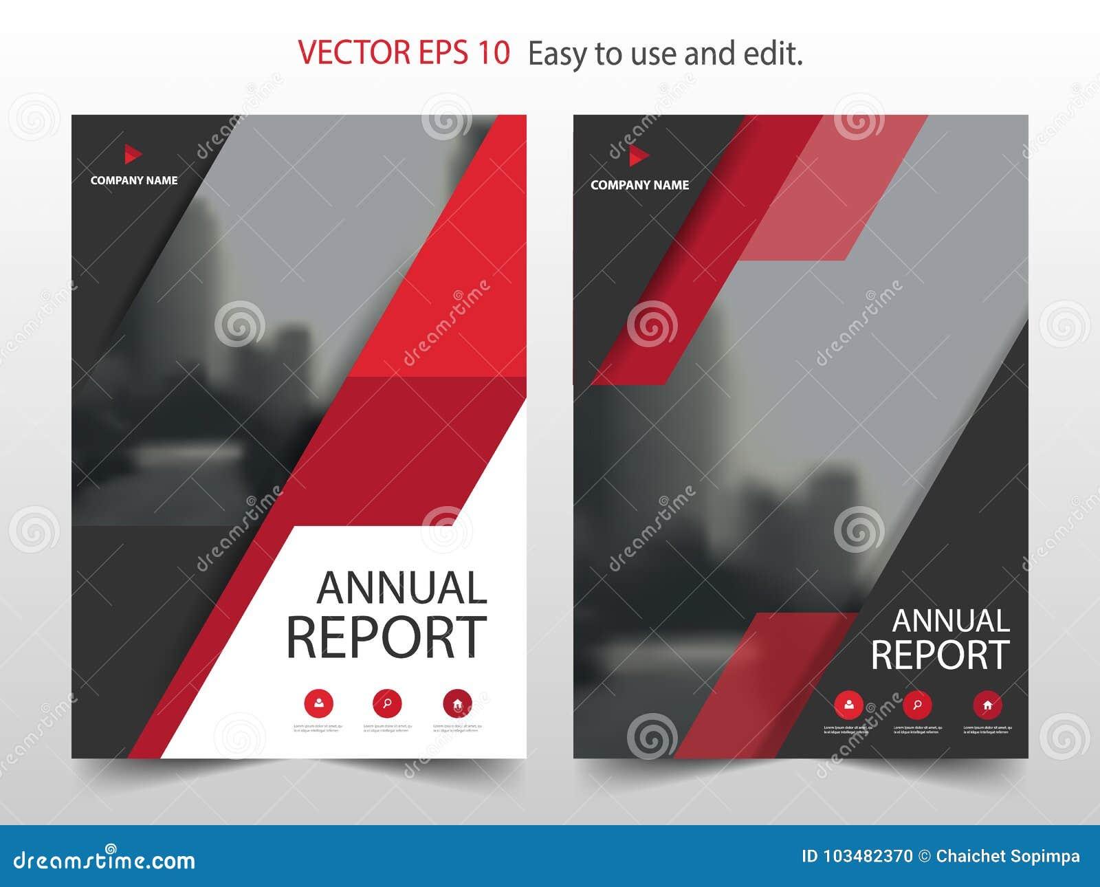 Κόκκινο αφηρημένο διάνυσμα προτύπων σχεδίου ετήσια εκθέσεων φυλλάδιων τριγώνων Infographic αφίσα περιοδικών επιχειρησιακών ιπτάμε