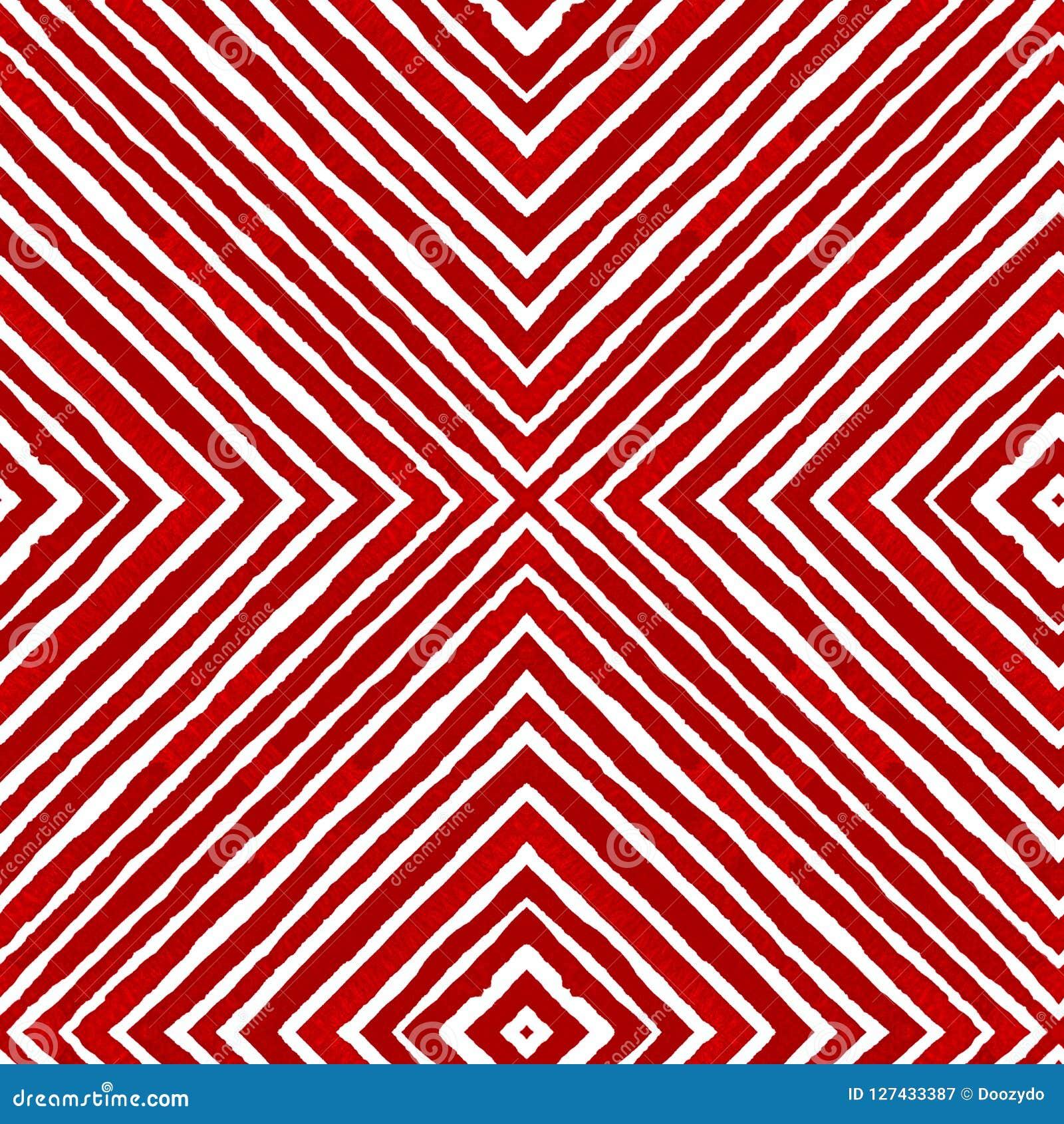 Κόκκινο γεωμετρικό Watercolor Περίεργη άνευ ραφής ομιλία