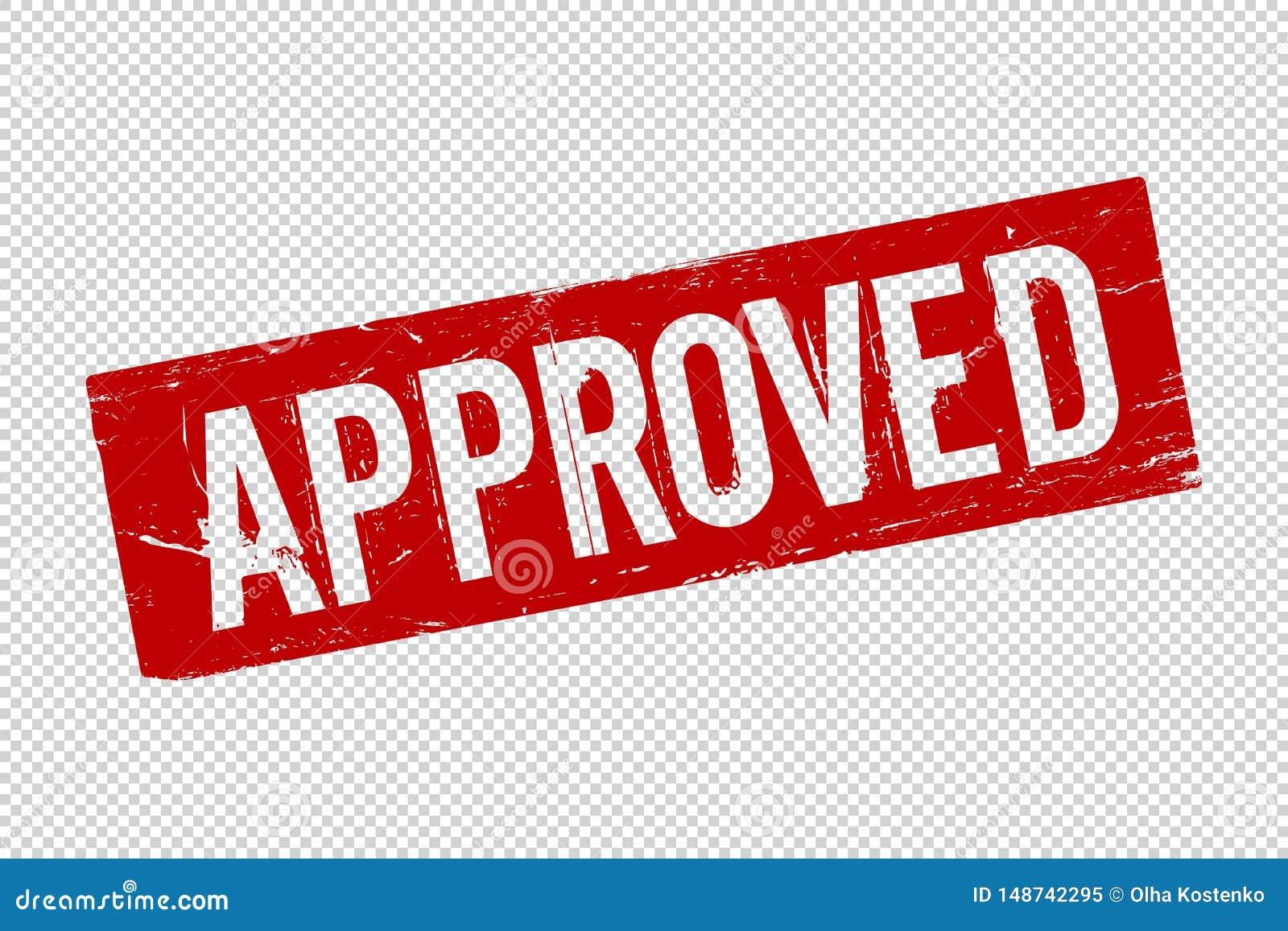 Κόκκινο εγκεκριμένο τετραγωνικό λαστιχένιο γραμματόσημο σφραγίδων Grunge