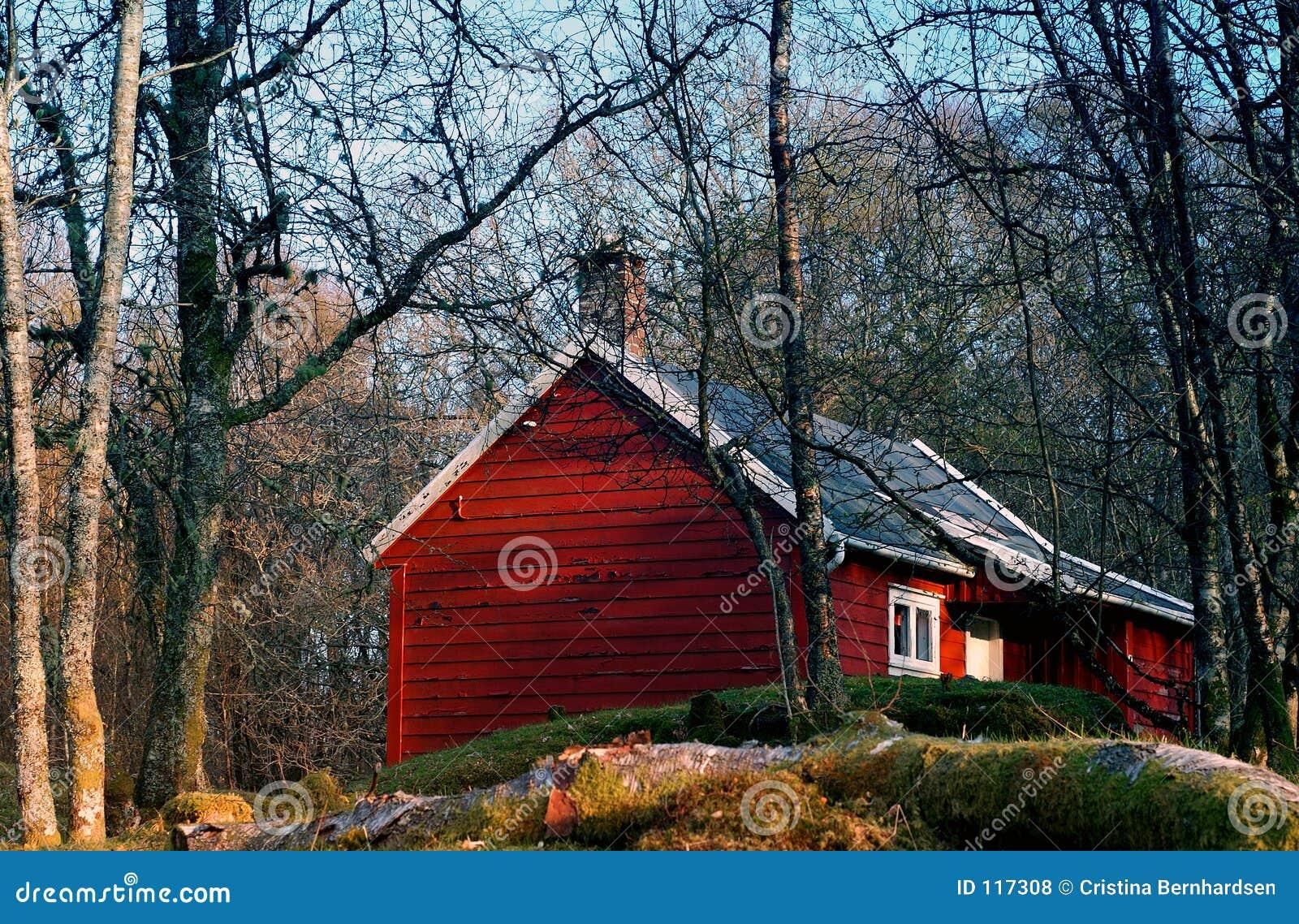 κόκκινο εξοχικών σπιτιών