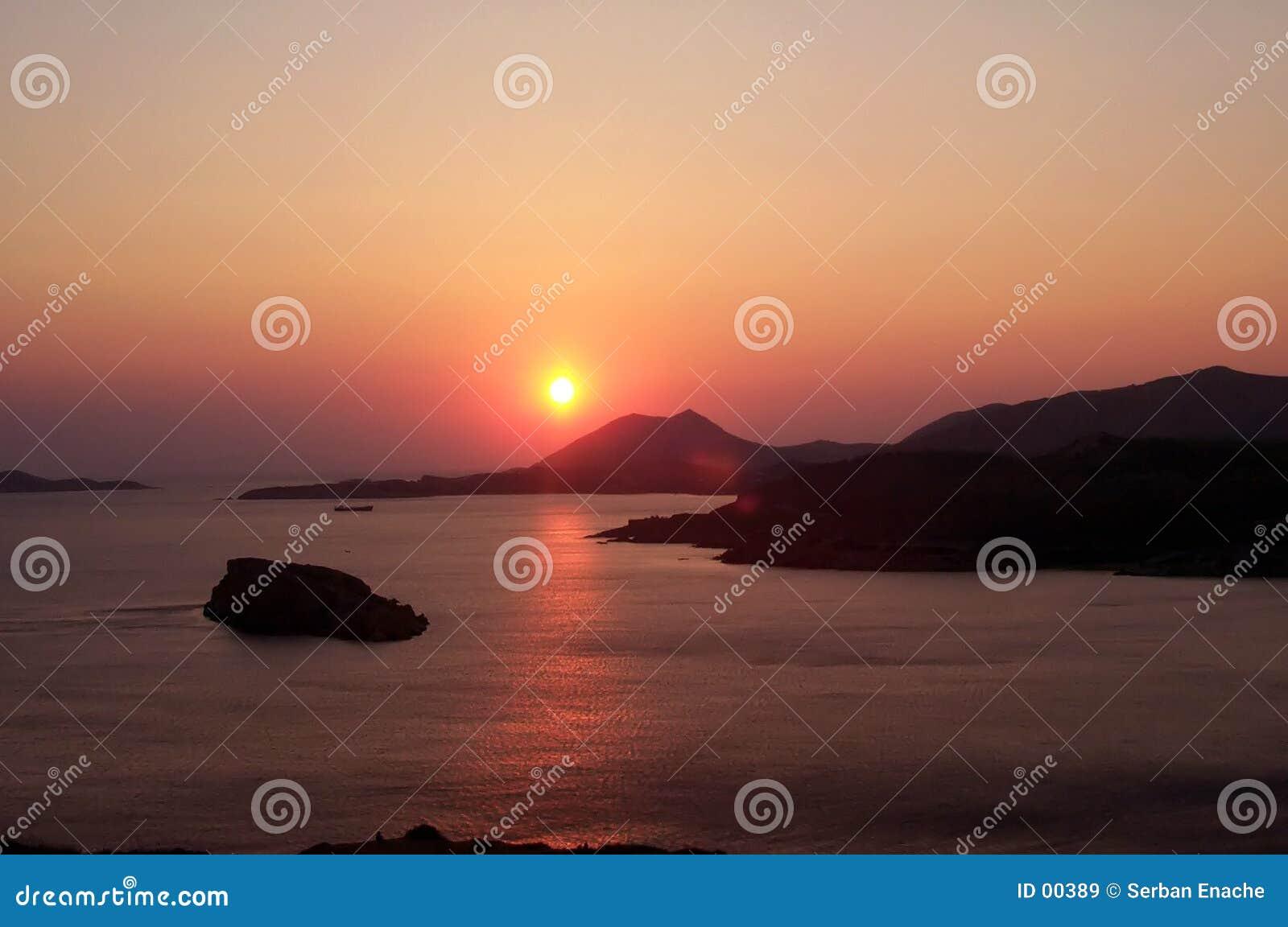 κόκκινο ηλιοβασίλεμα
