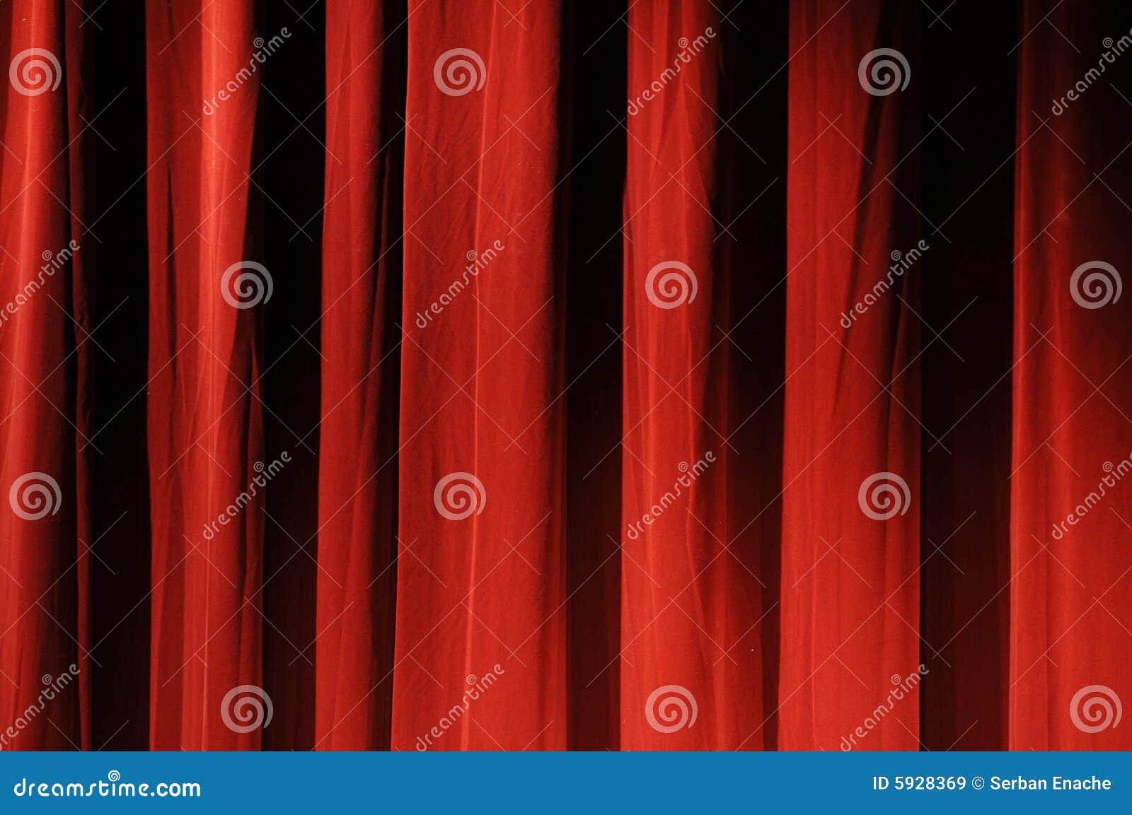 κόκκινο θέατρο κουρτινών