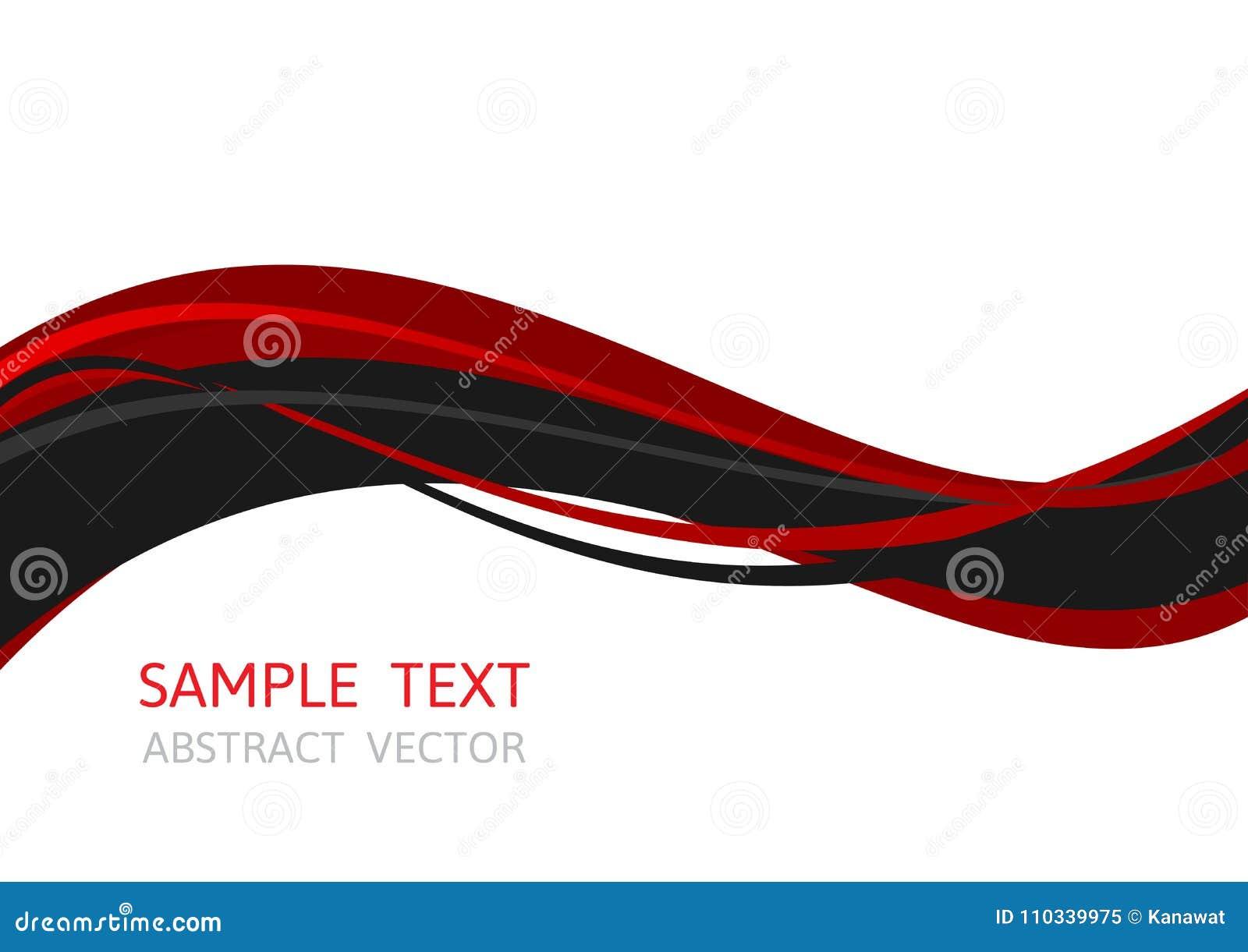 Κόκκινο και μαύρο χρώμα κυμάτων γραμμών, αφηρημένο διανυσματικό υπόβαθρο με το διάστημα αντιγράφων για την επιχείρηση, γραφικό σχ