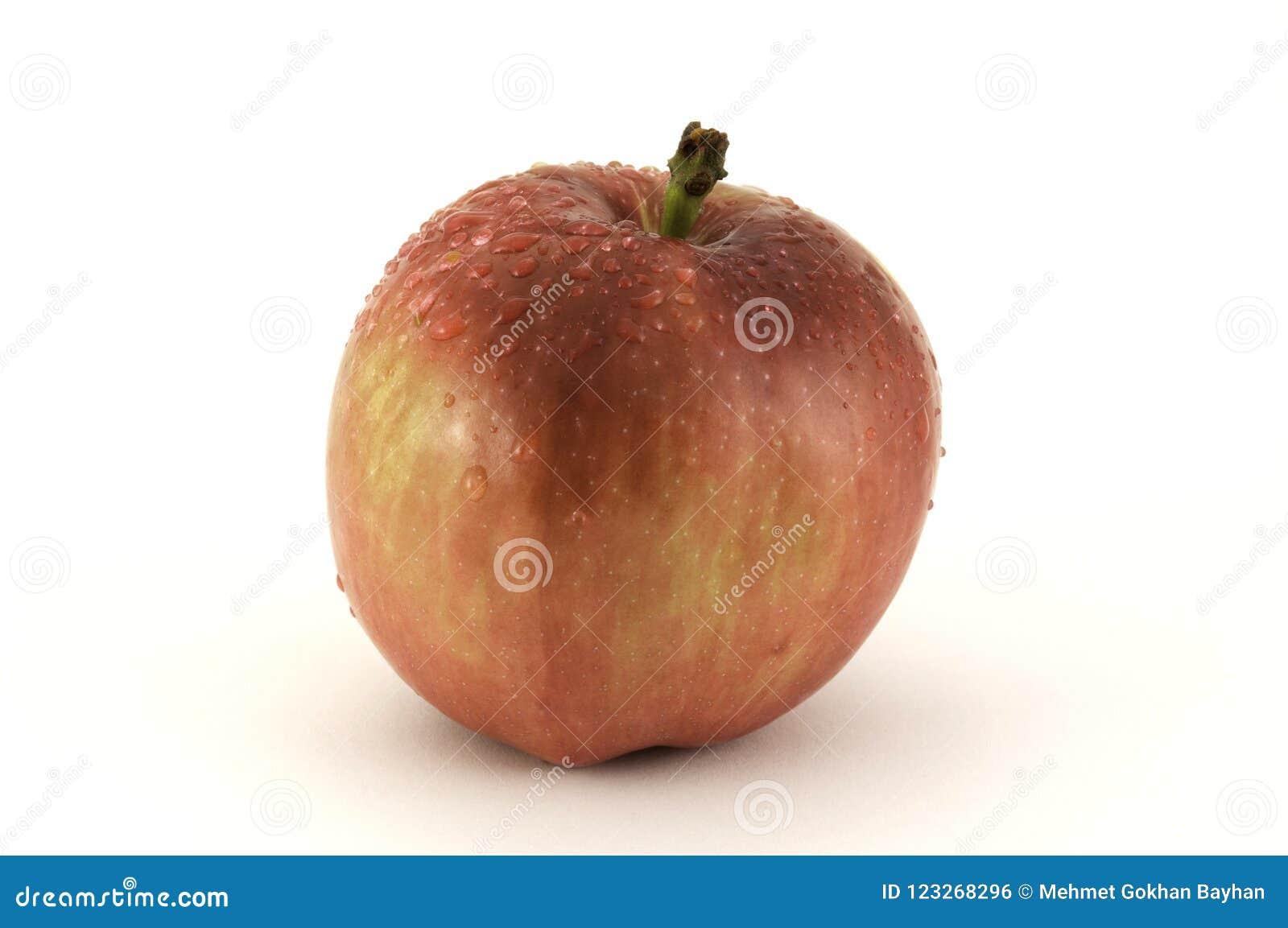 κόκκινο λευκό ανασκόπησης μήλων