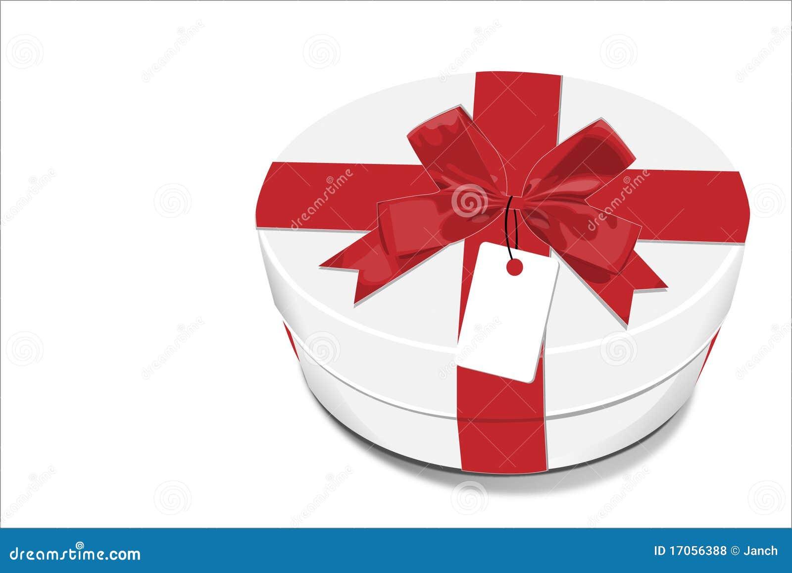 κόκκινο λευκό δώρων κιβω&t