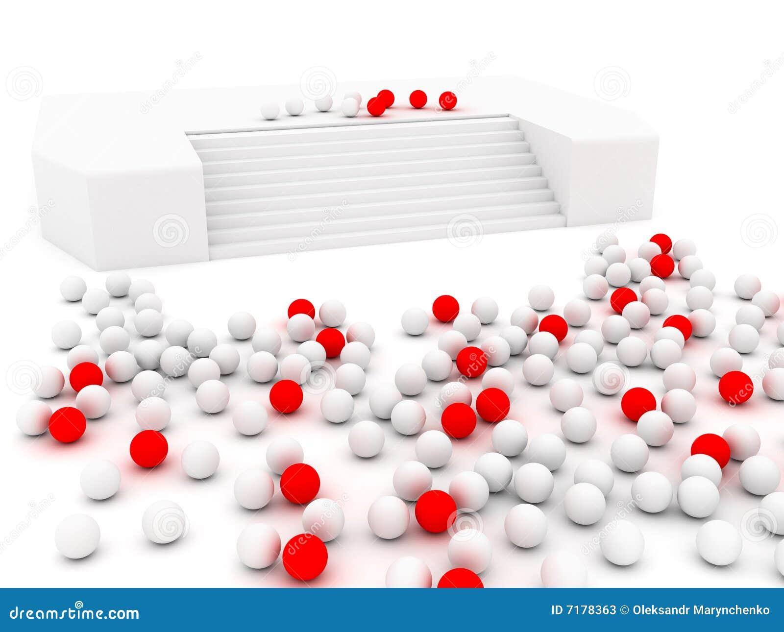 κόκκινο λευκό σφαιρών