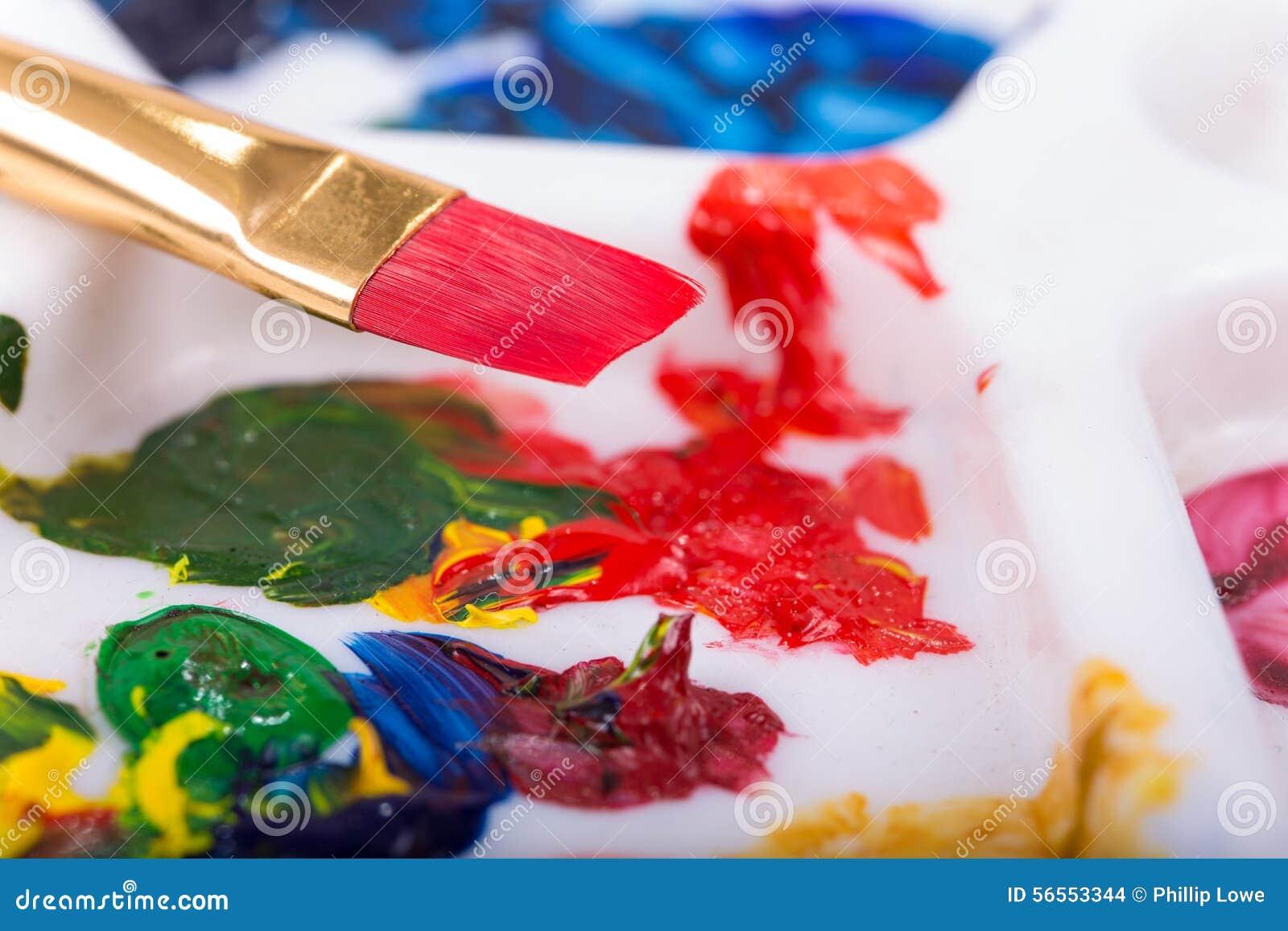 Download Κόκκινο πινέλο στοκ εικόνες. εικόνα από watercolors, πινέλο - 56553344