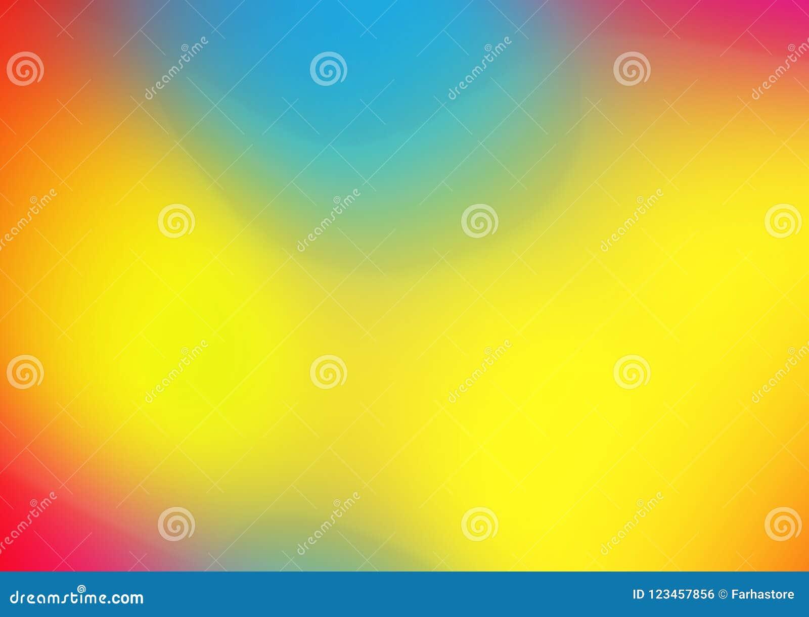 Κόκκινο πορτοκαλί κίτρινο μπλε φωτεινό υπόβαθρο σύστασης watercolor εμβλημάτων κλίσης ζωηρόχρωμο οριζόντιο