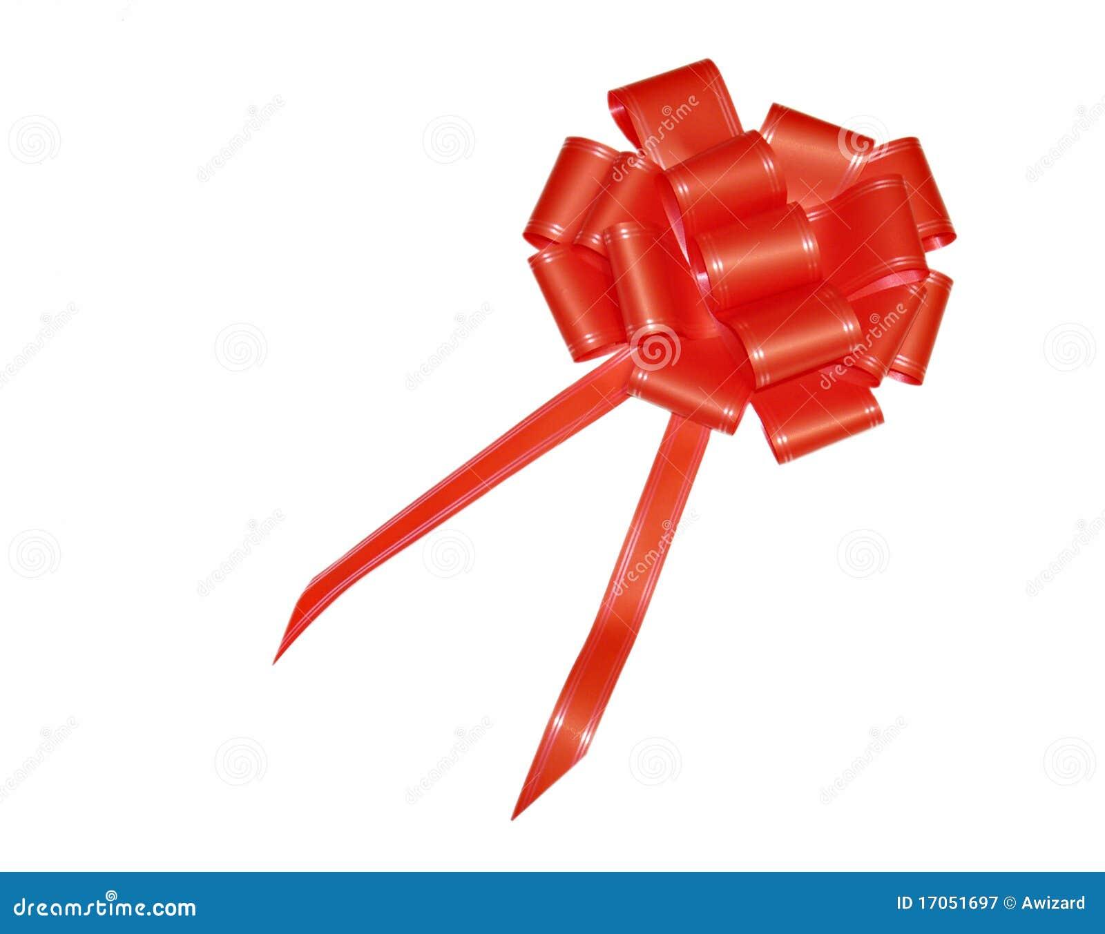 κόκκινο σατέν δώρων τόξων