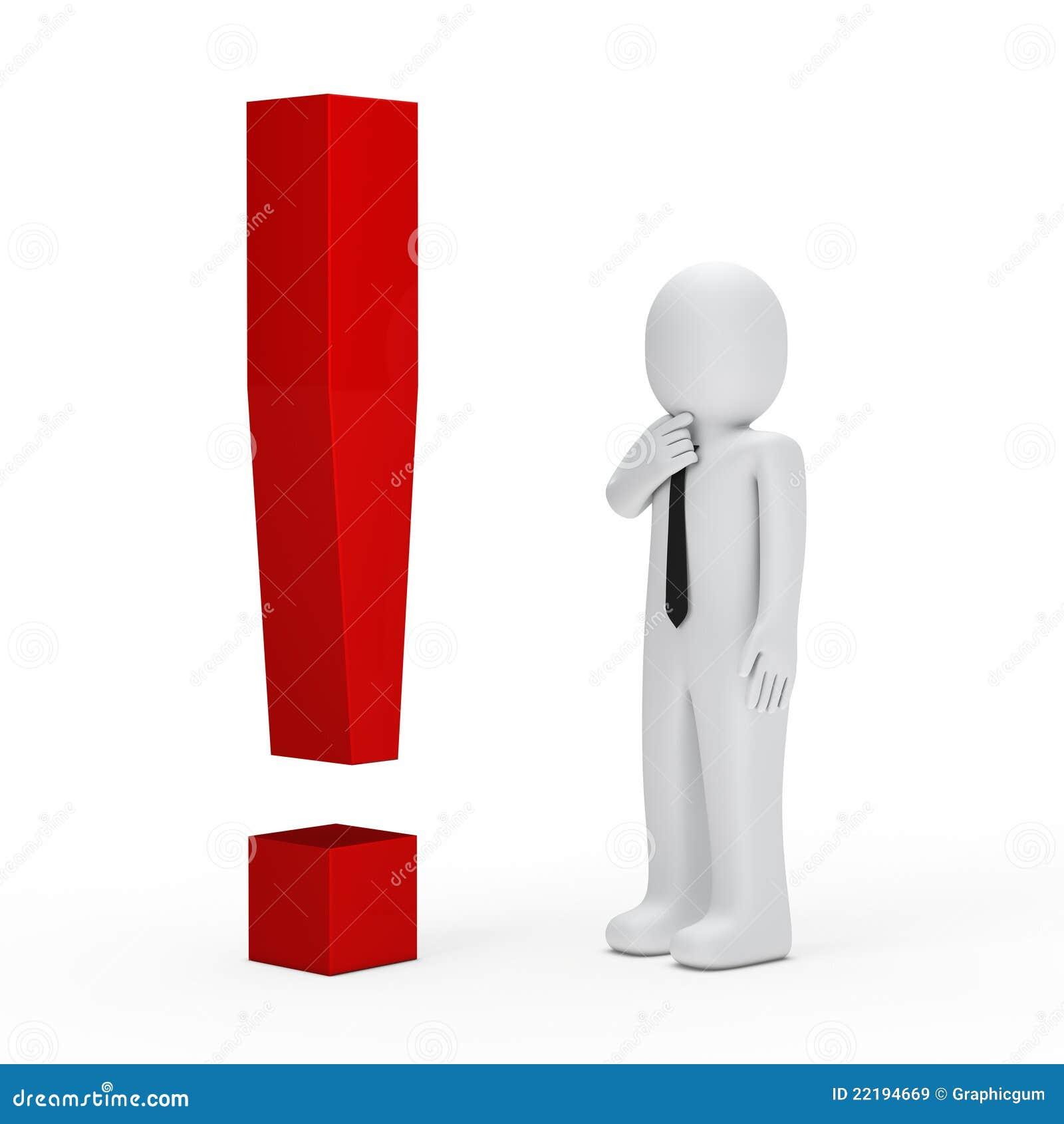 κόκκινο σημαδιών θαυμαστικών επιχειρηματιών