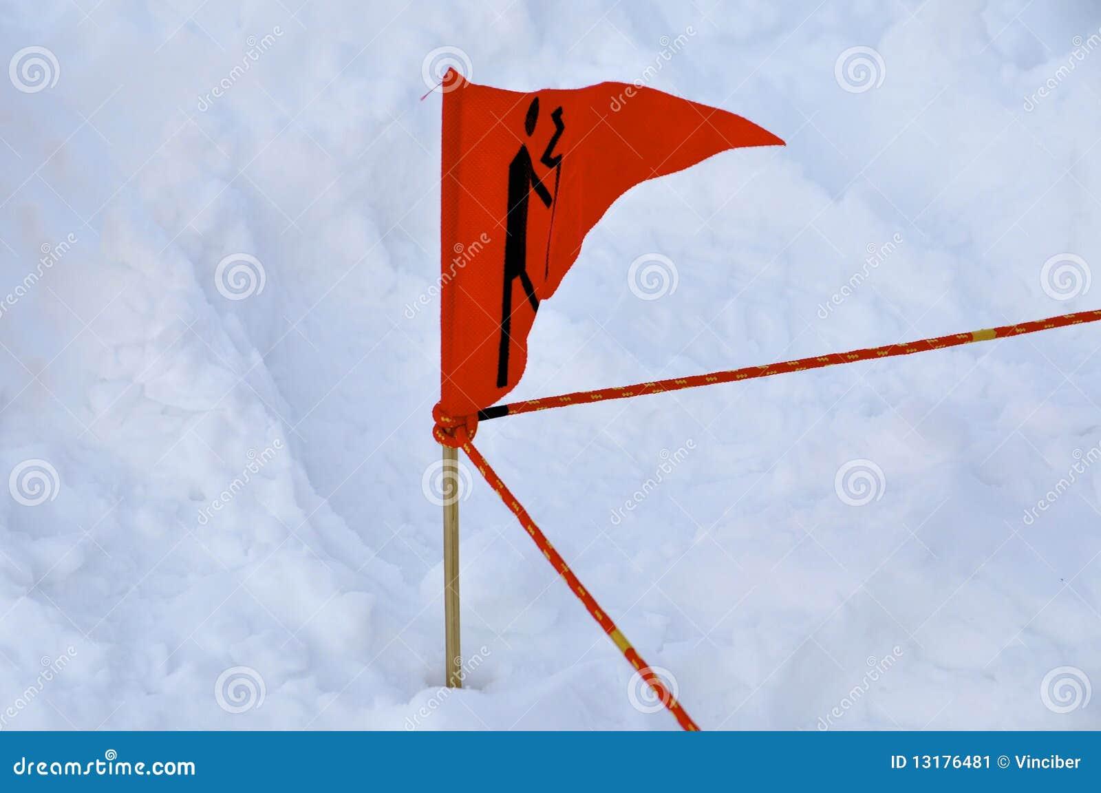 κόκκινο σημαιών χιονοστι&b