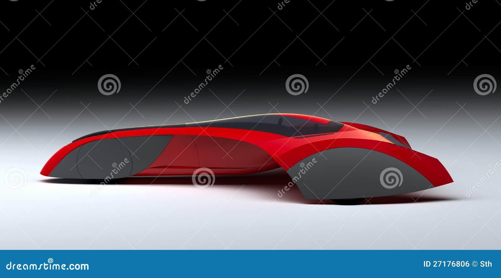 Κόκκινο σύγχρονο αυτοκίνητο έννοιας