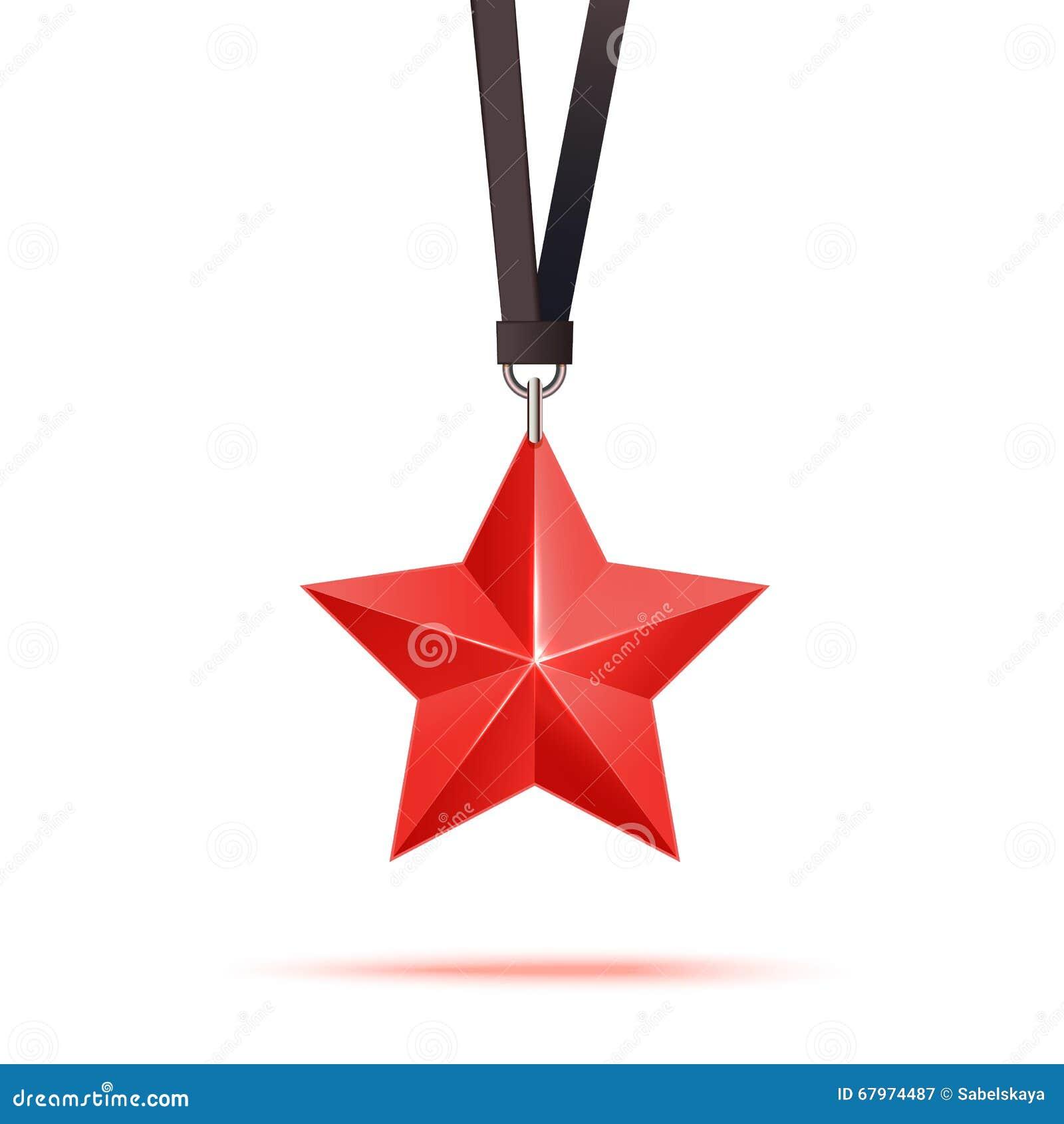 Κόκκινο τρισδιάστατο ασφάλιστρο αστεριών Η καλύτερη ανταμοιβή