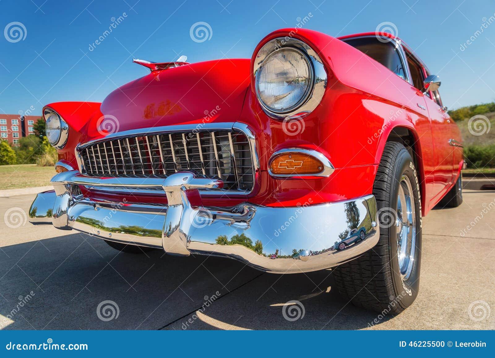 Κόκκινο 1955 Chevrolet 210