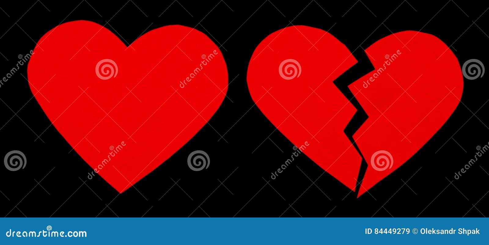 Κόκκινο heartbreak/σπασμένη καρδιά κλείστε επάνω μιας σπασμένης έγγραφο καρδιάς