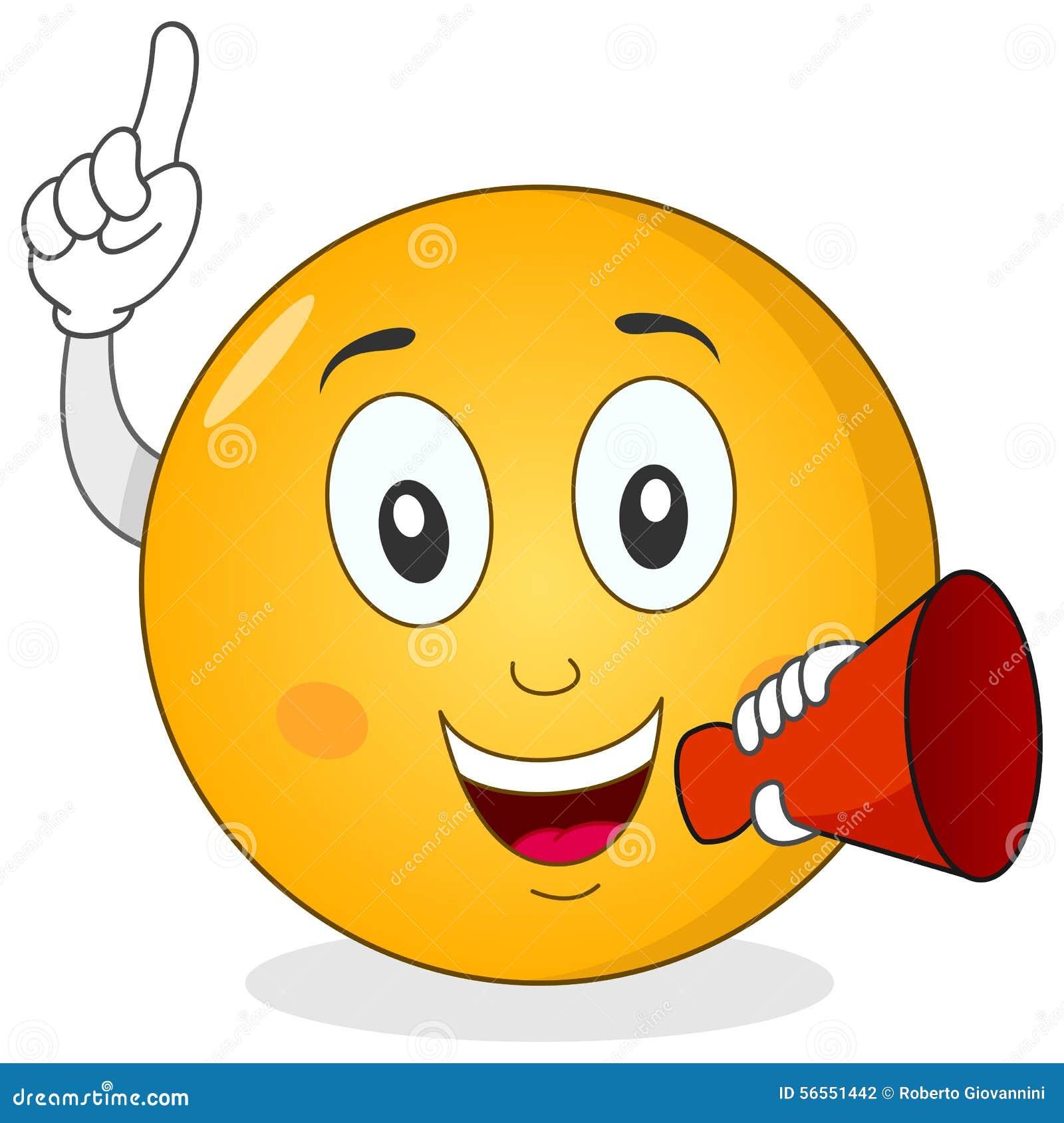 Download Κόκκινο Megaphone εκμετάλλευσης Emoticon Smiley Διανυσματική απεικόνιση - εικονογραφία από χαρακτήρας, ευτυχής: 56551442