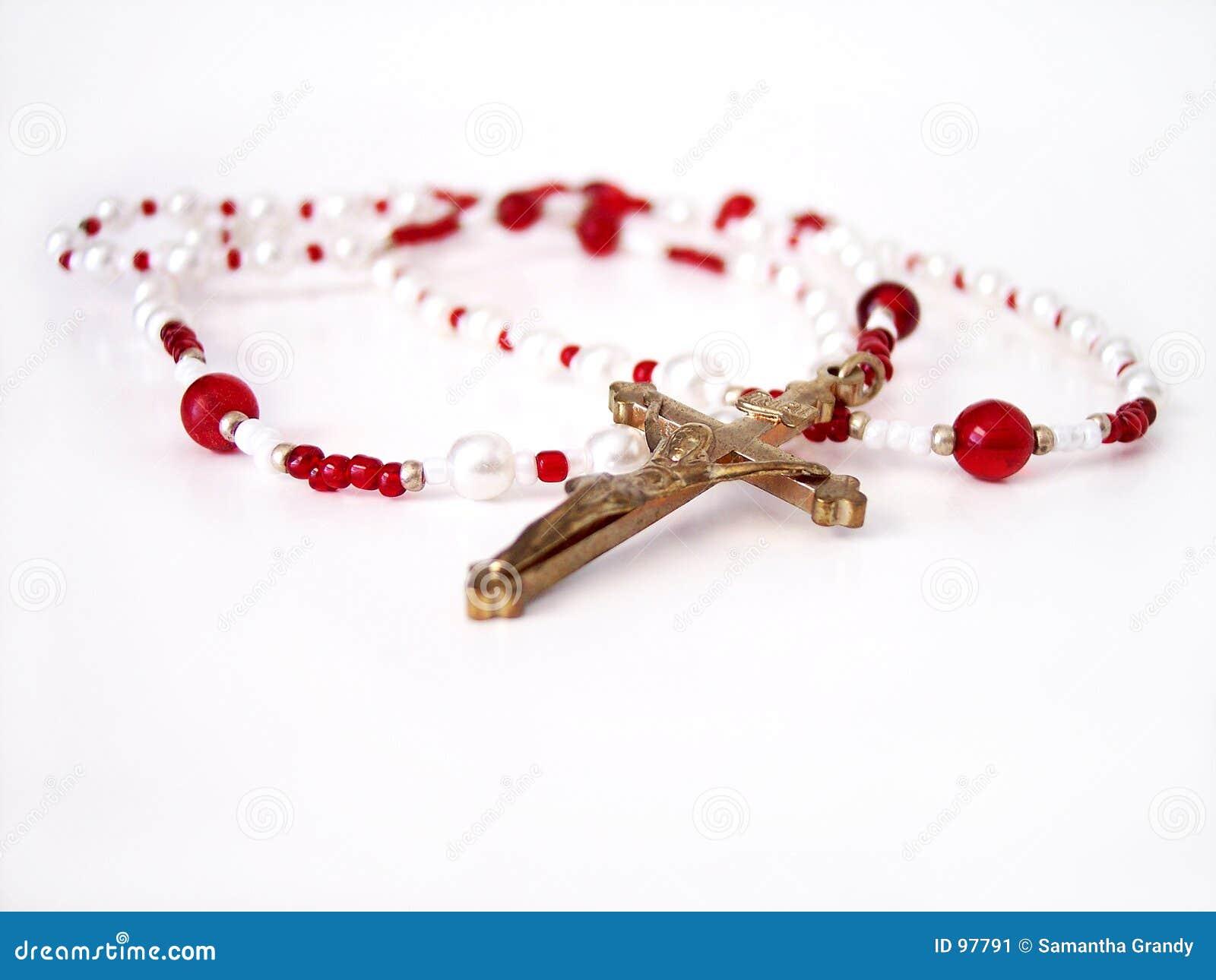 κόκκινο rosary 3