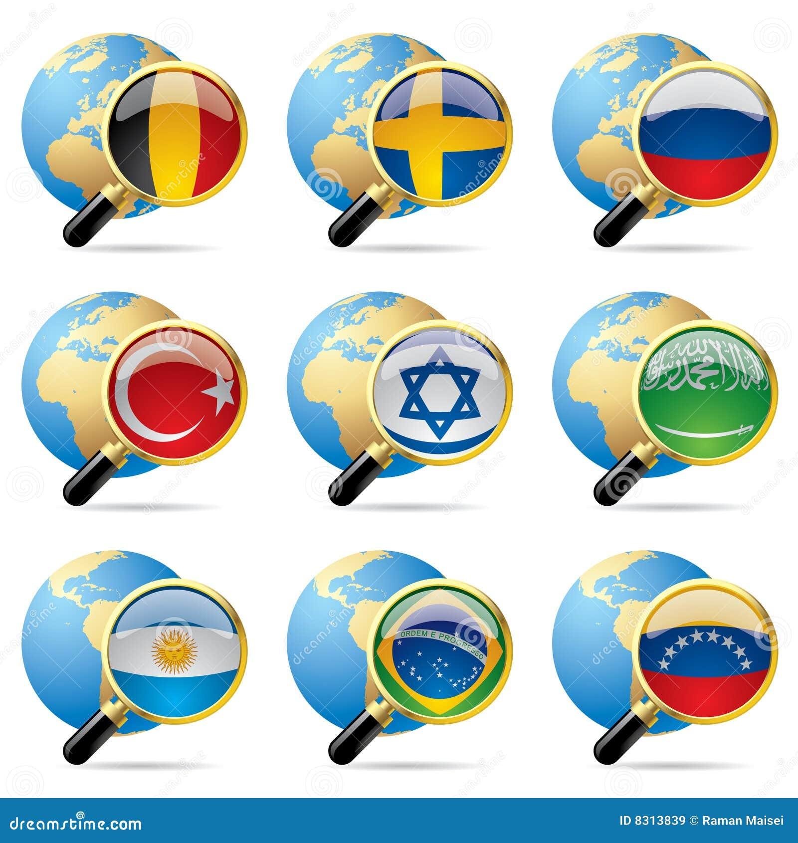 κόσμος εικονιδίων σημαιών