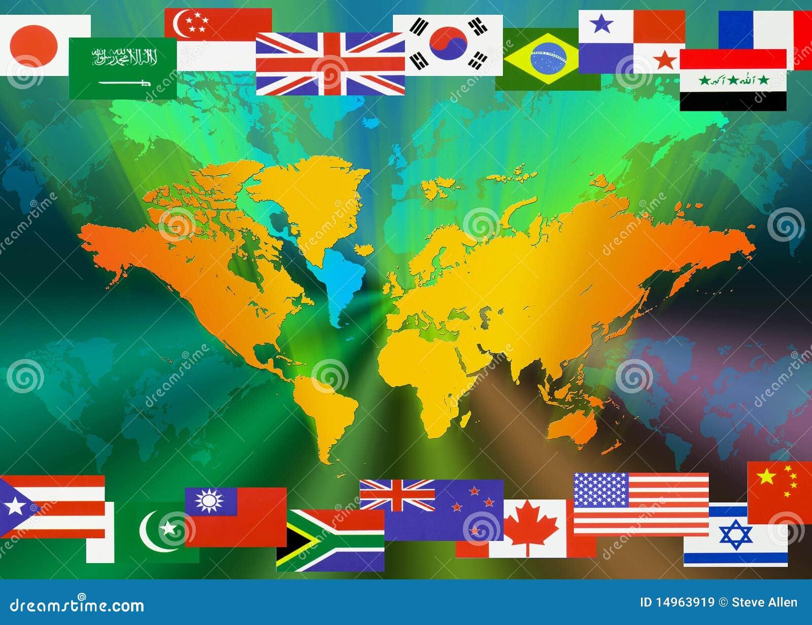 κόσμος χαρτών σημαιών