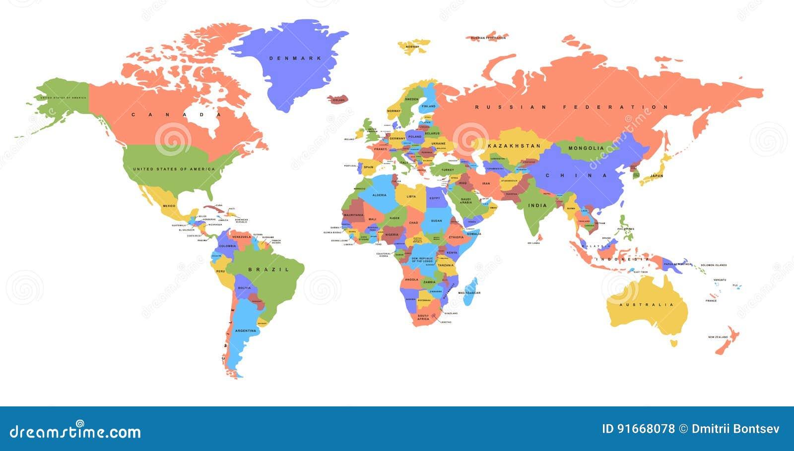 κόσμος χαρτών χρώματος το πολιτικό u χαρτών ε