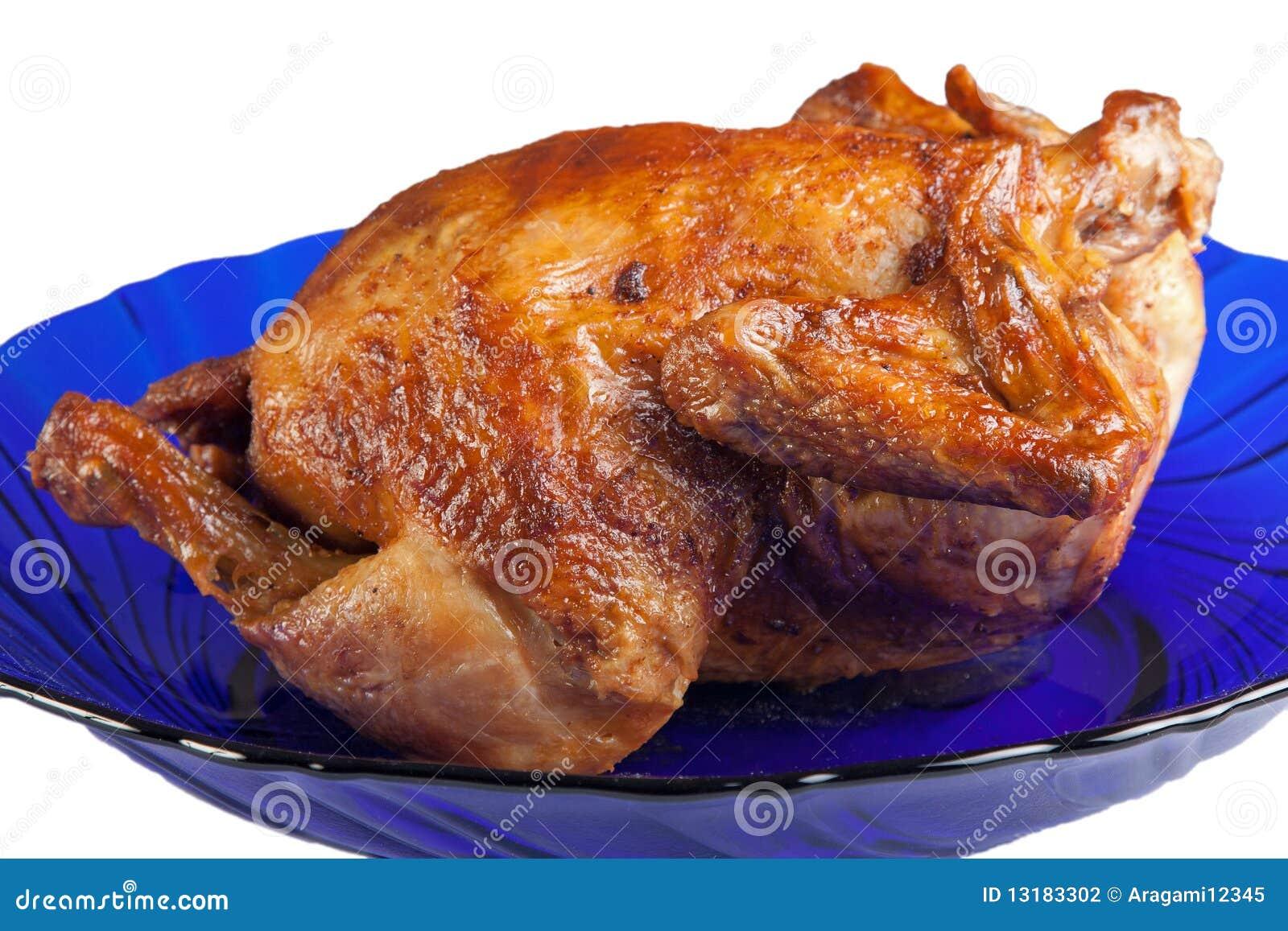 κότα πιάτων που ψήνεται