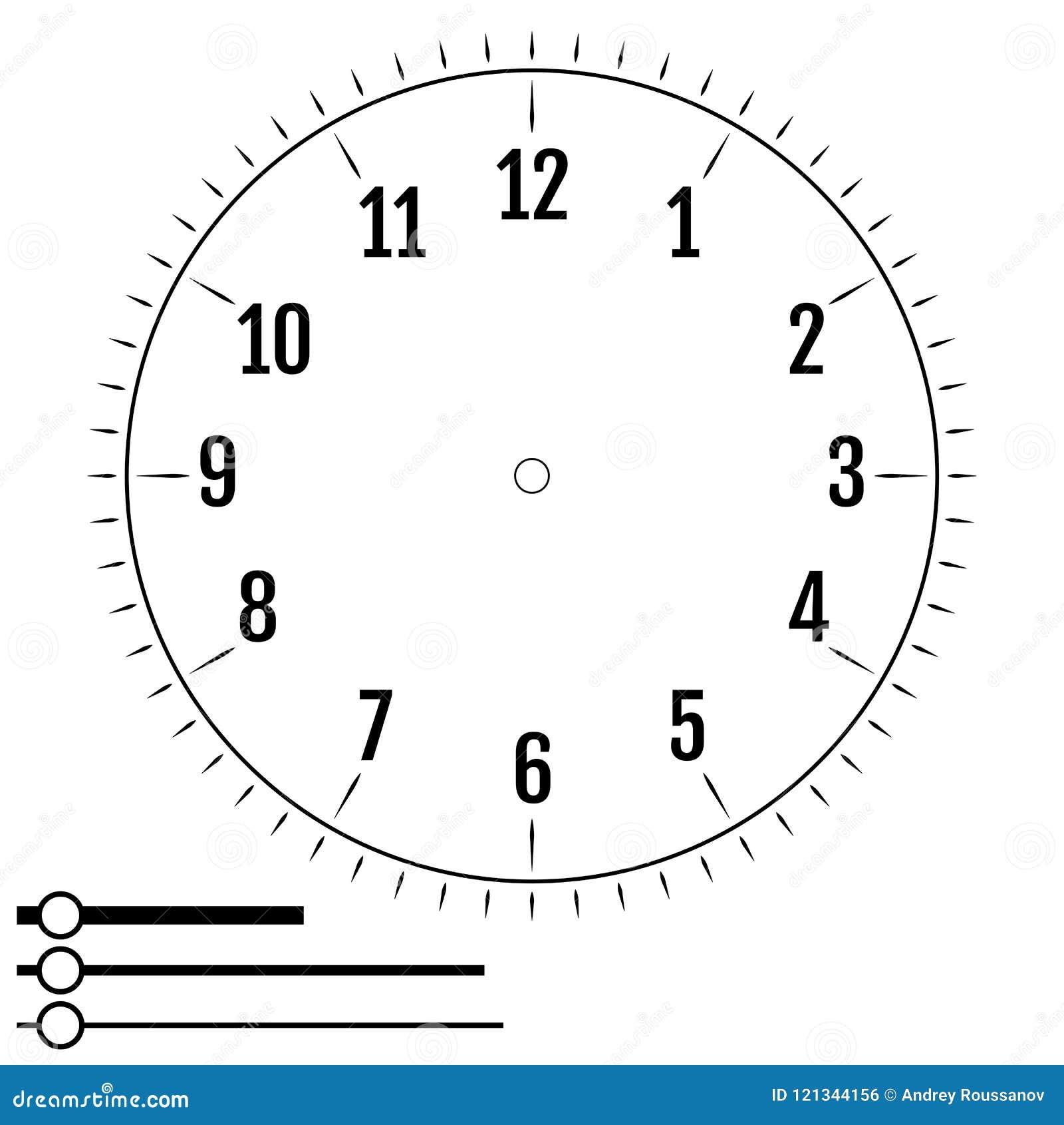 Κύκλος προσώπου ρολογιών Σχέδιο για τα άτομα Κενός πίνακας επίδειξης του μηχανικού