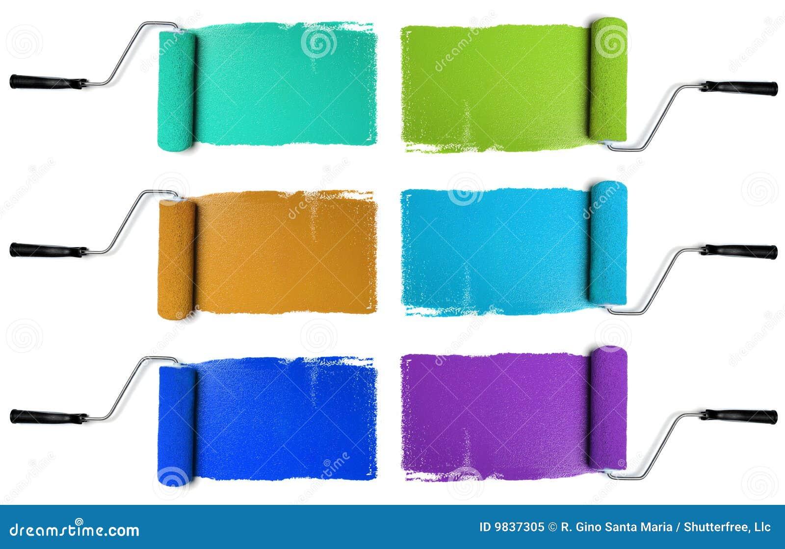 κύλινδροι χρωμάτων διάφορ&omi