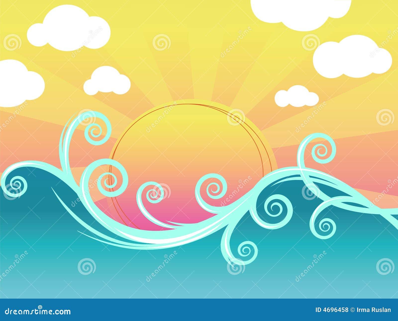 κύματα ηλιοβασιλέματος
