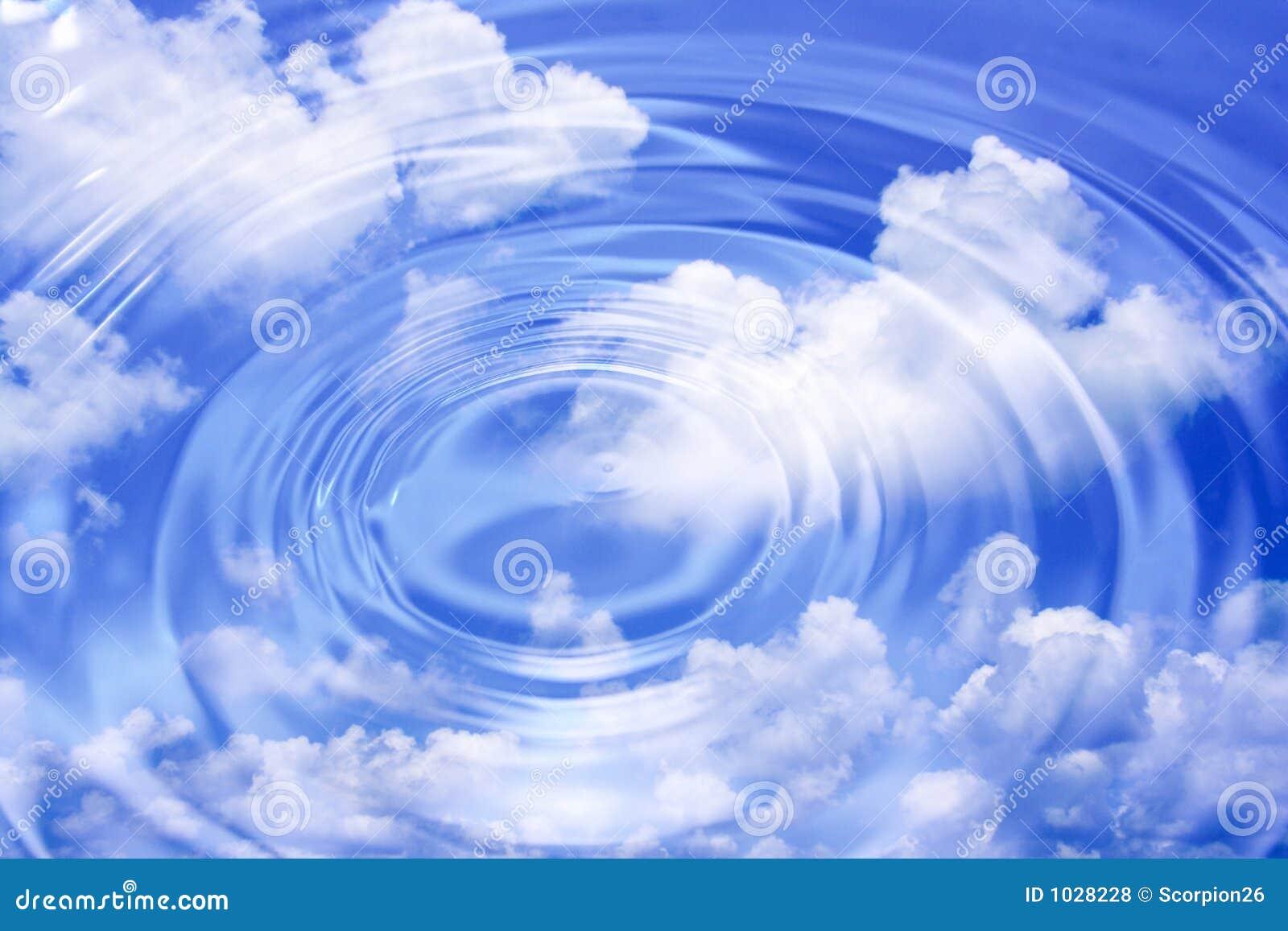 κύματα ύδατος σύννεφων