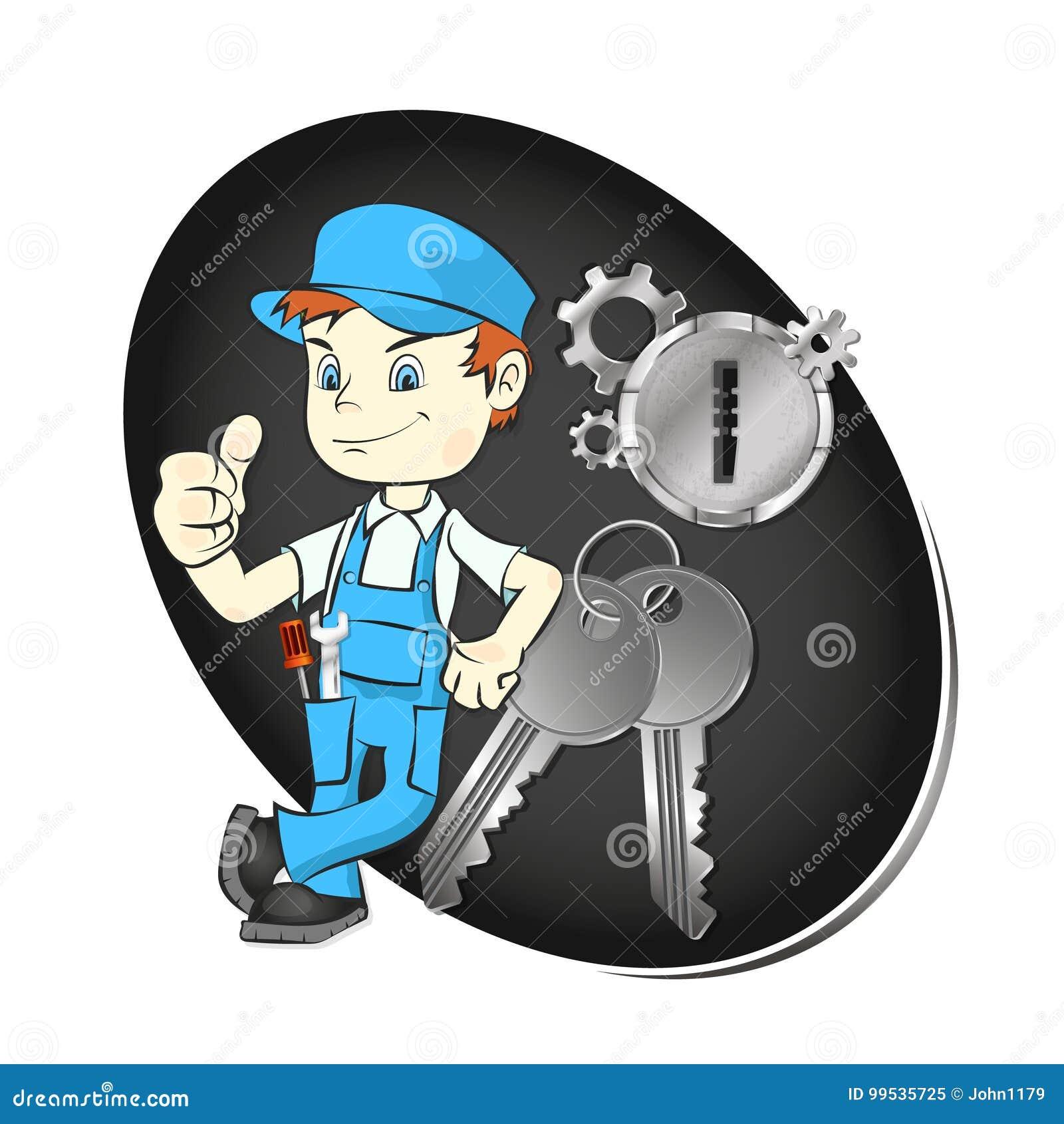 Κύριος της επισκευής των κλειδιών και των κλειδαριών