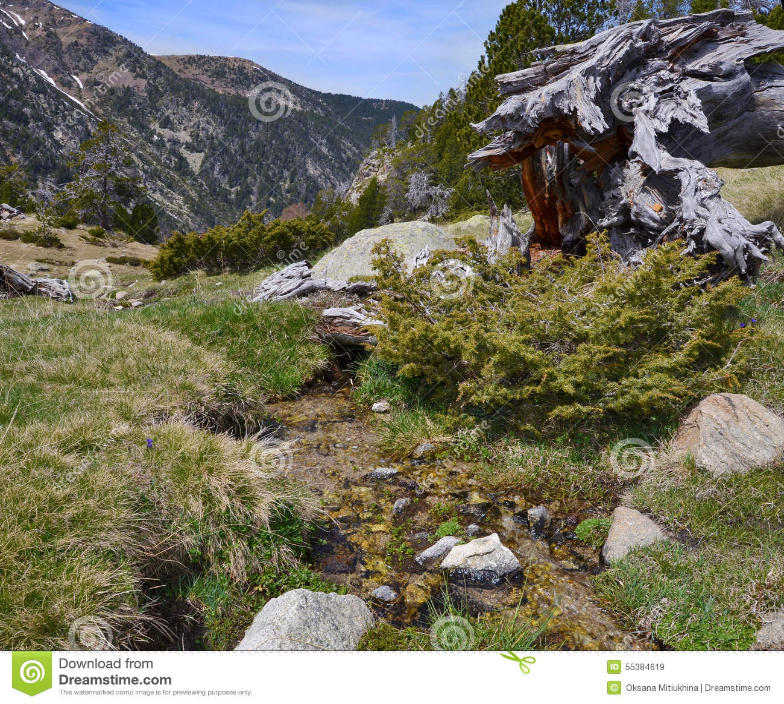 Κλίσεις άνοιξη της κοιλάδας madriu-Perafita-Claror