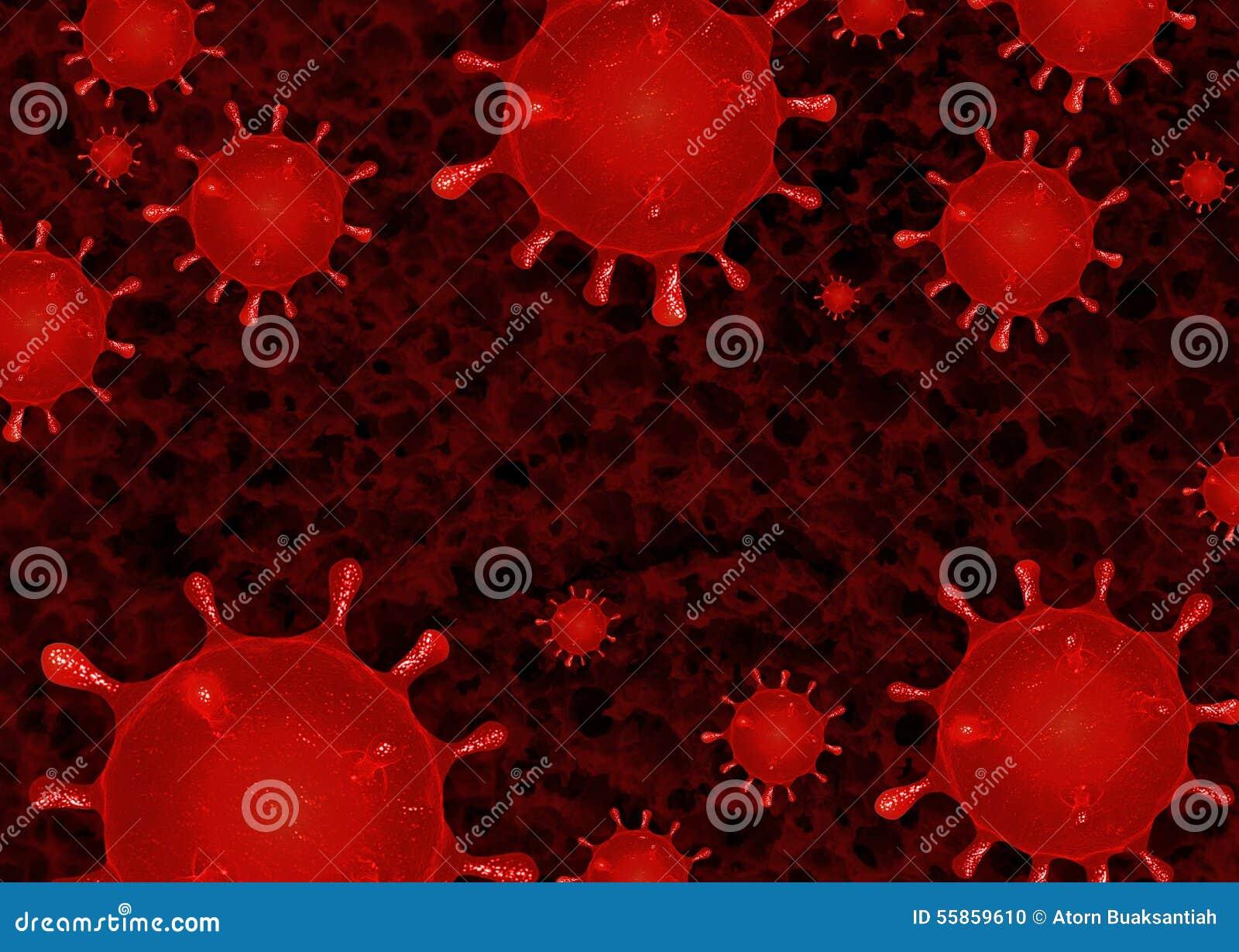 Κλείστε επάνω τα αφηρημένα βακτηρίδια ιών