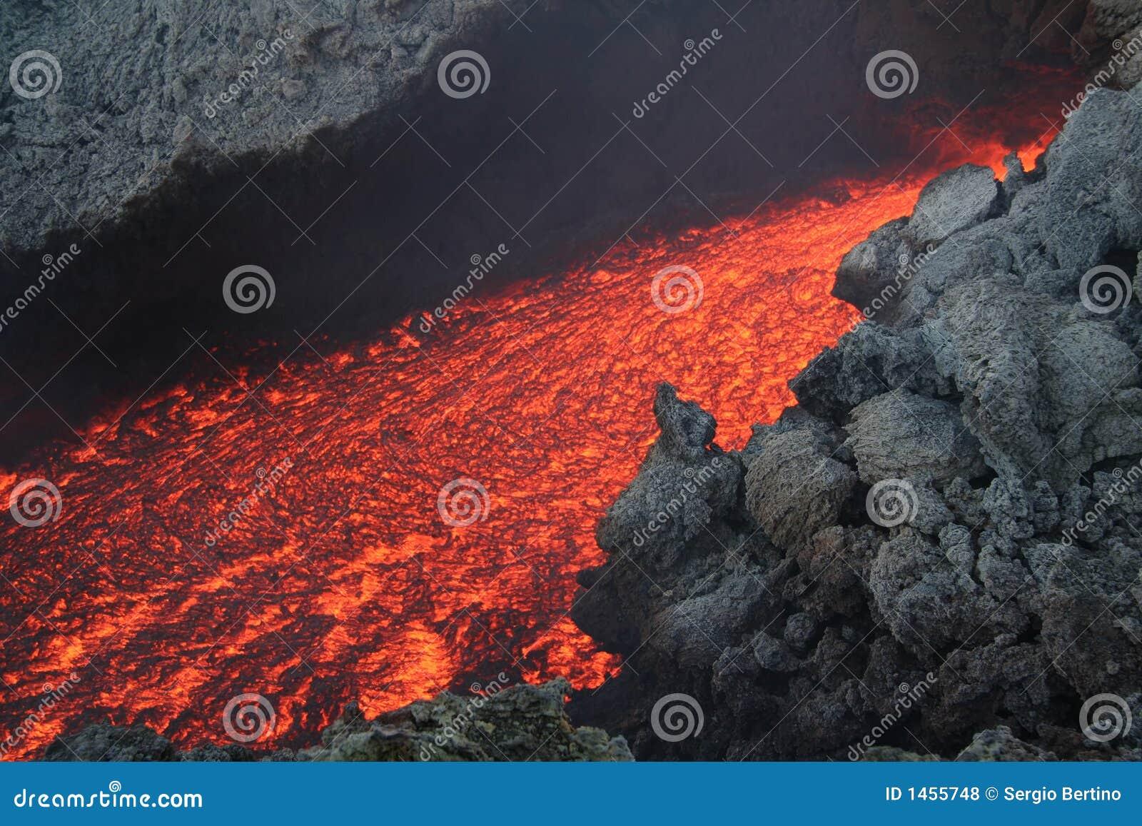 λάβα ροής ηφαιστειακή