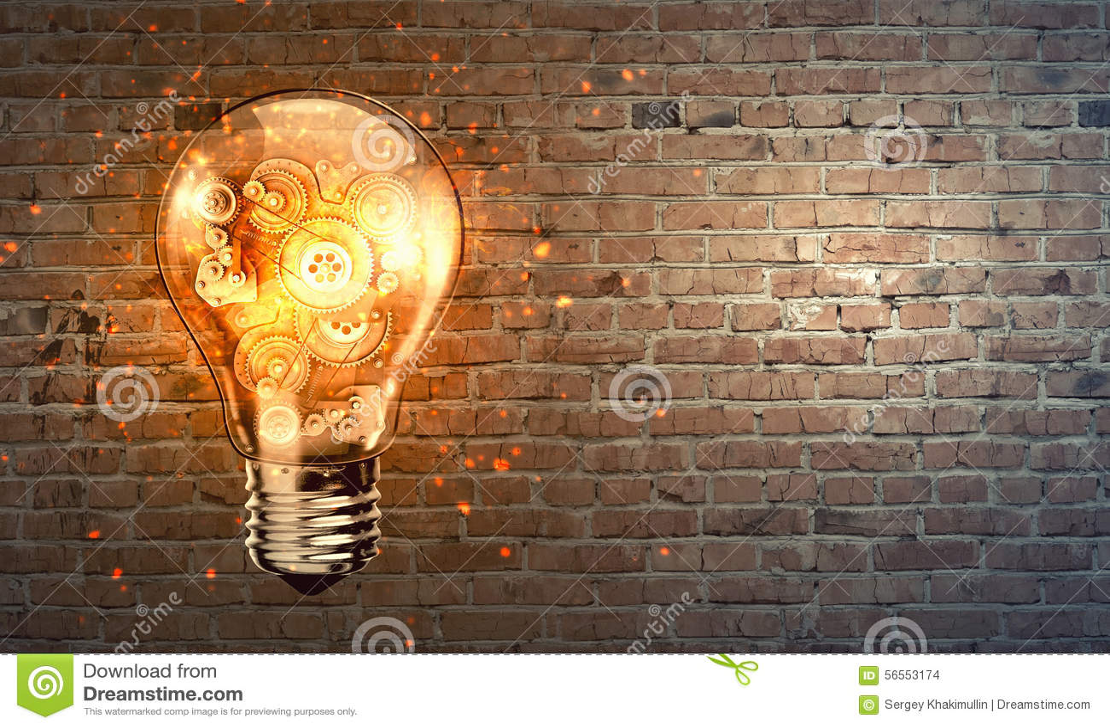 Download Λάμπα φωτός με cogwheels στοκ εικόνες. εικόνα από μπουχάρα - 56553174