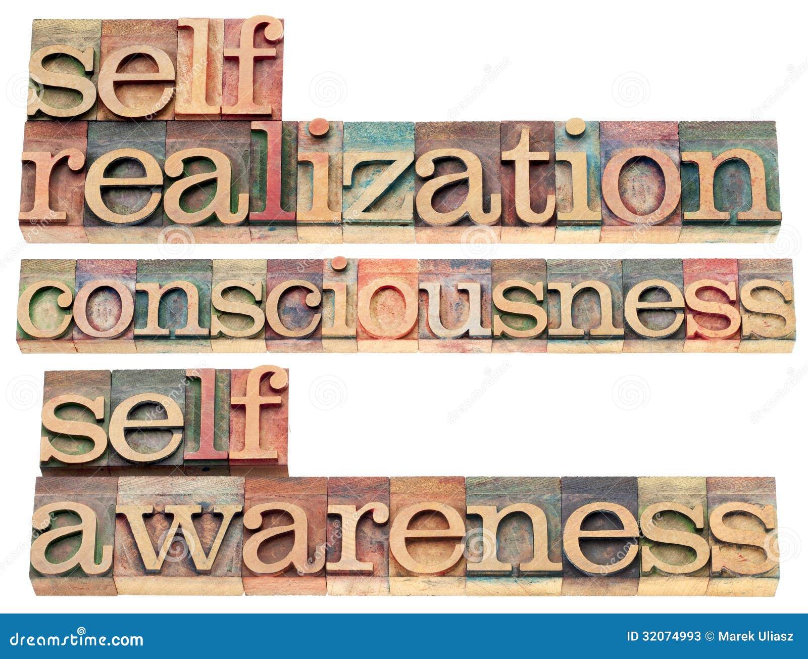 Λέξεις ι μόνος-πραγματοποίησης, συνείδησης και self-awareness