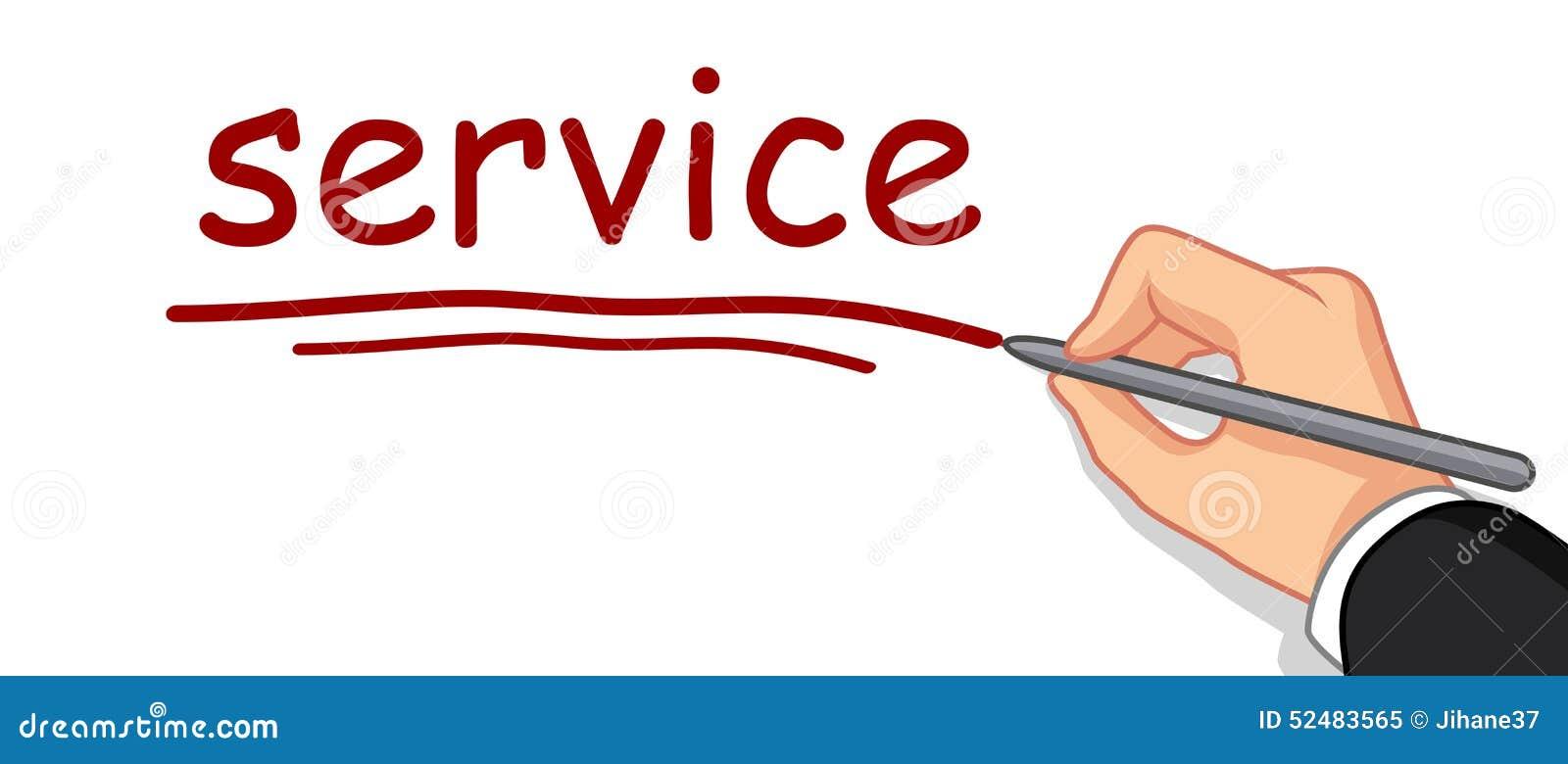 Λέξη υπηρεσιών γραψίματος χεριών
