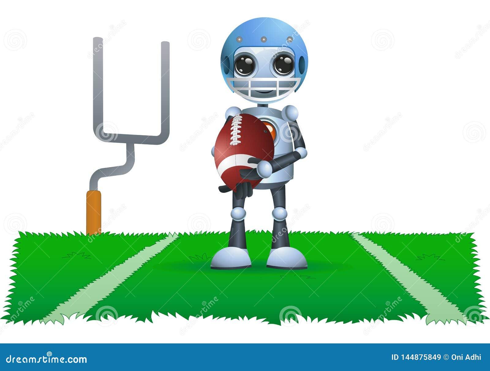Λίγη σφαίρα ράγκμπι λαβής ρομπότ