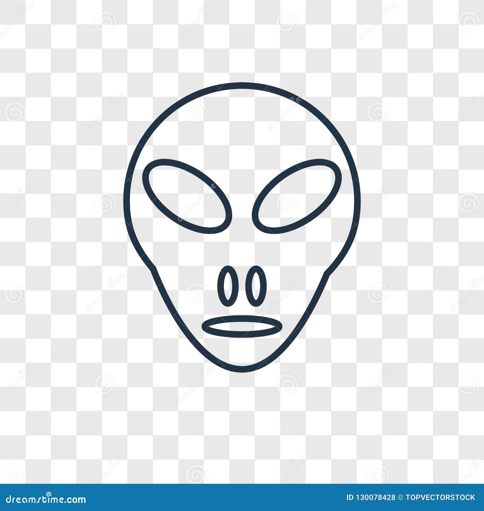 Λίγο διανυσματικό γραμμικό εικονίδιο εξωγήινης έννοιας που απομονώνεται στο TR