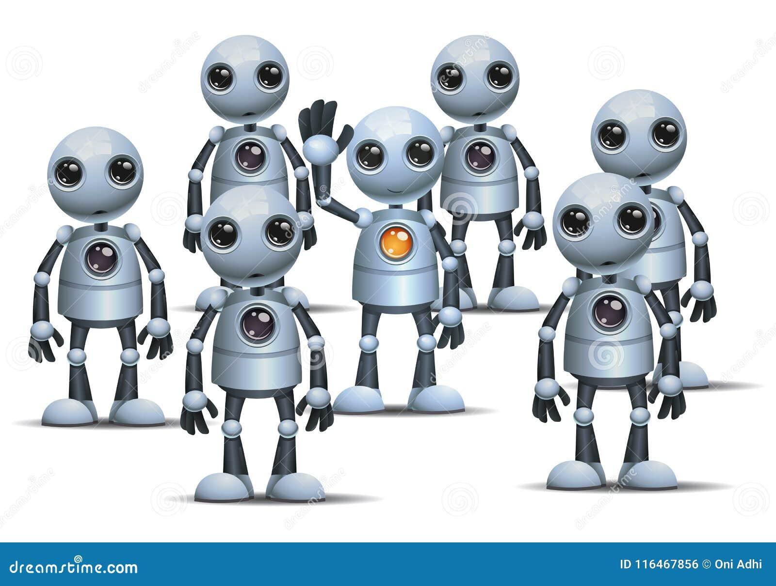 Λίγο ρομπότ είναι διαφορετικό στο πλήθος