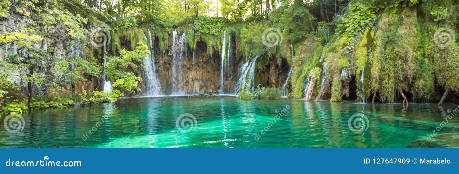 Λίμνες Plitvice, καταρράκτης της Κροατίας Καταπληκτική θέση