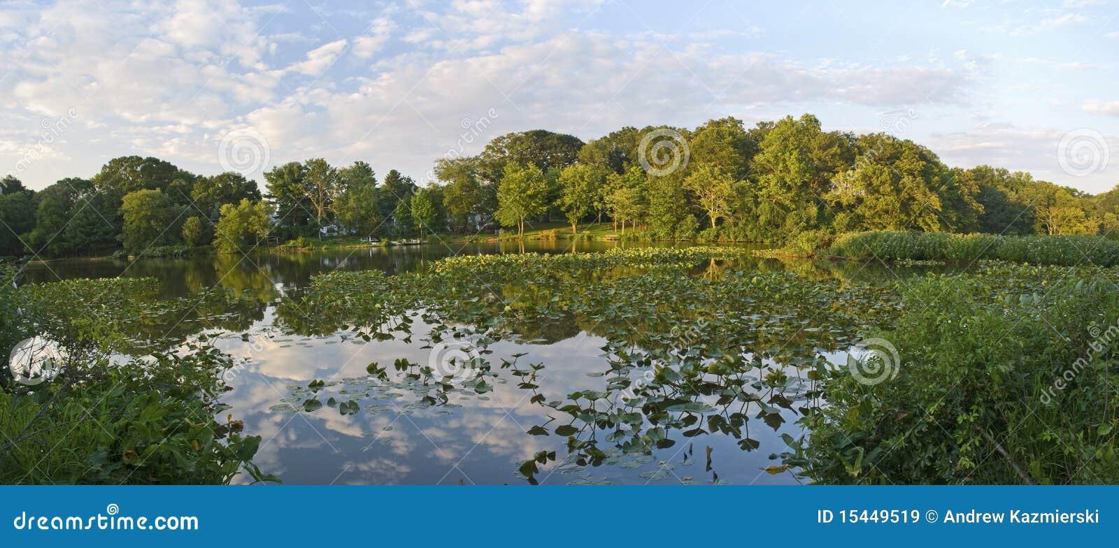 λίμνη πάρκων πανοράματος
