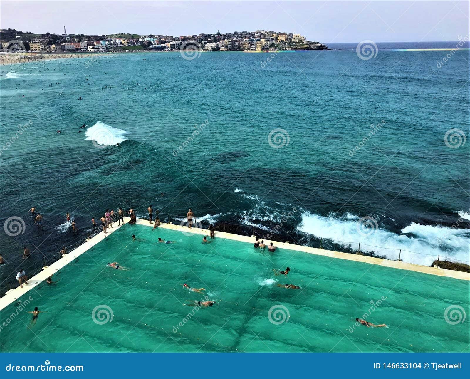 Λίμνη παραλιών Bondi στην Αυστραλία